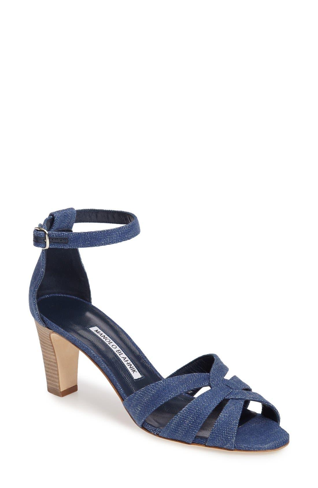 Alternate Image 1 Selected - Manolo Blahnik Unista Sandal (Women)
