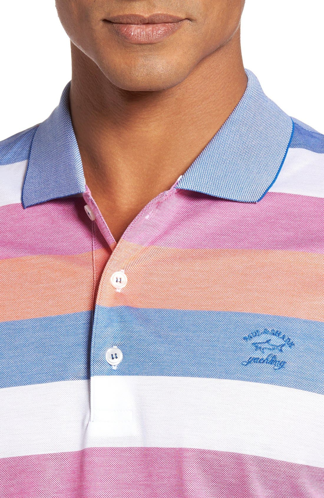 Alternate Image 4  - Paul & Shark Stripe Piqué Polo