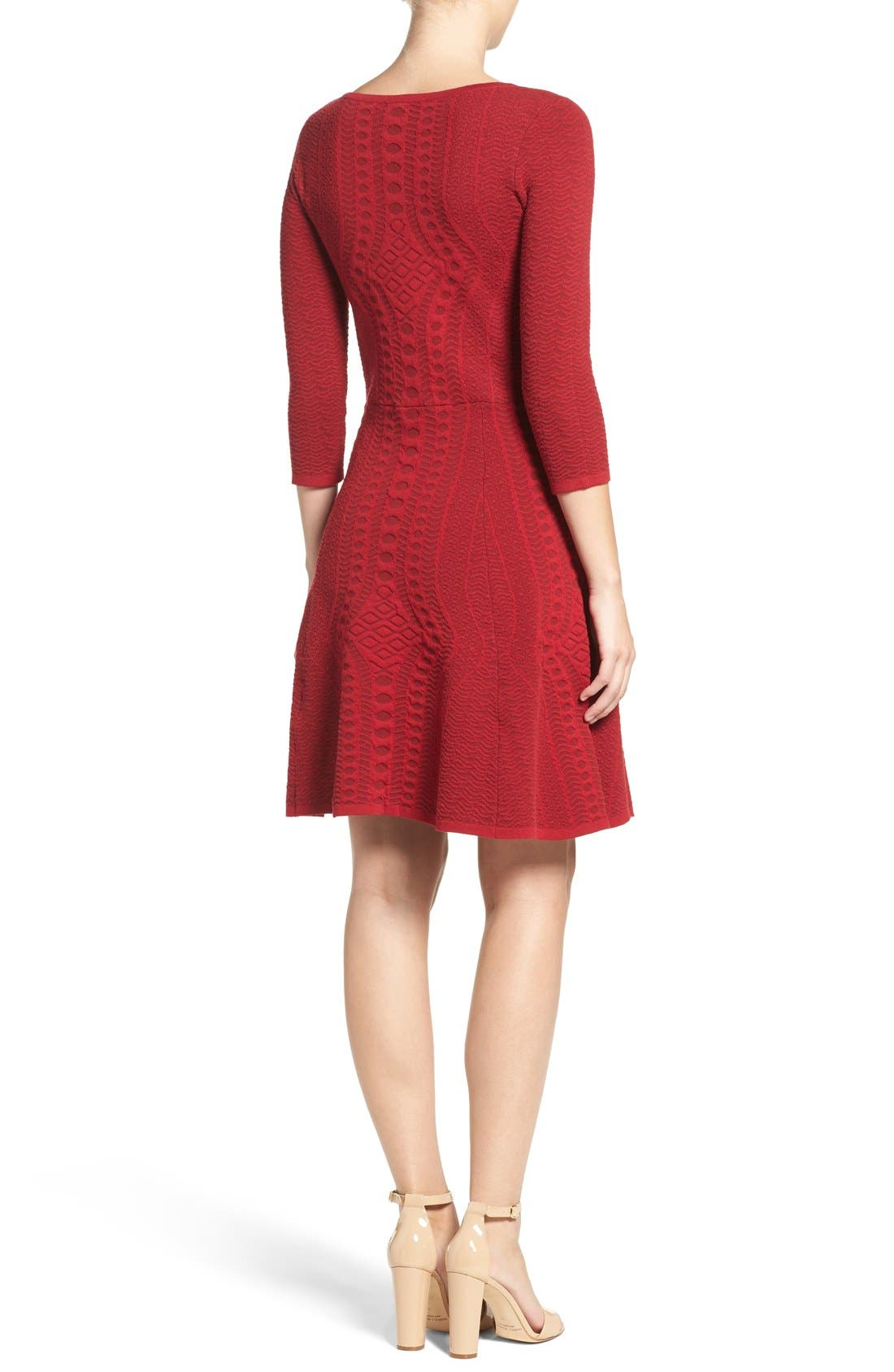 Alternate Image 2  - Gabby Skye Fit & Flare Sweater Dress