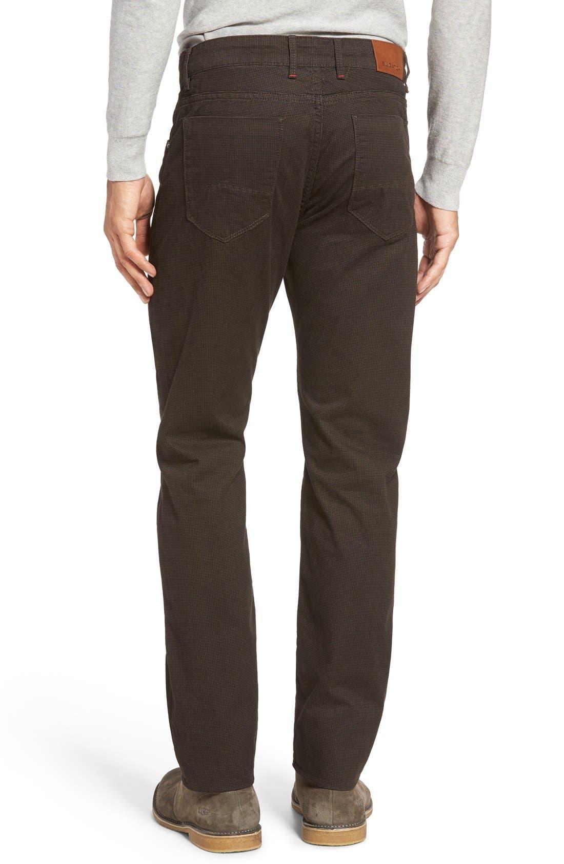 Mini Check Five-Pocket Pants,                             Alternate thumbnail 2, color,                             Truffle