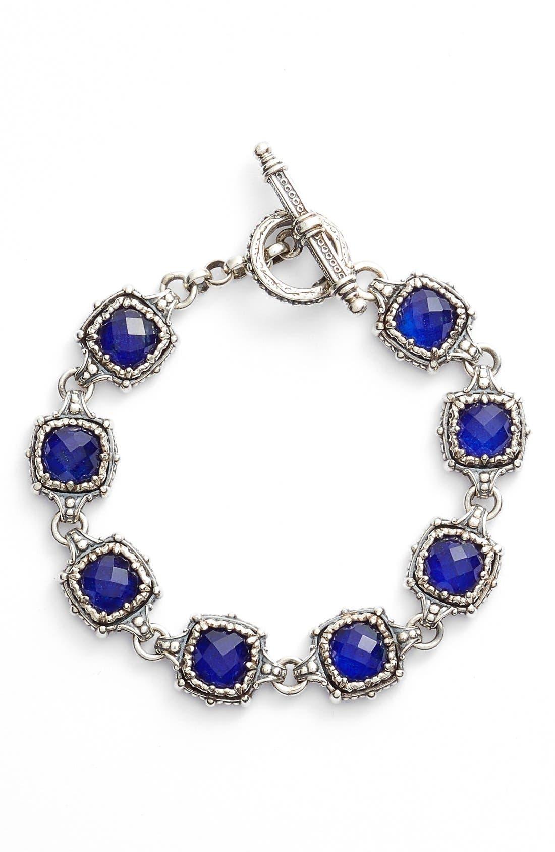 Andromeda Lapis Bracelet,                         Main,                         color, Sterling Silver