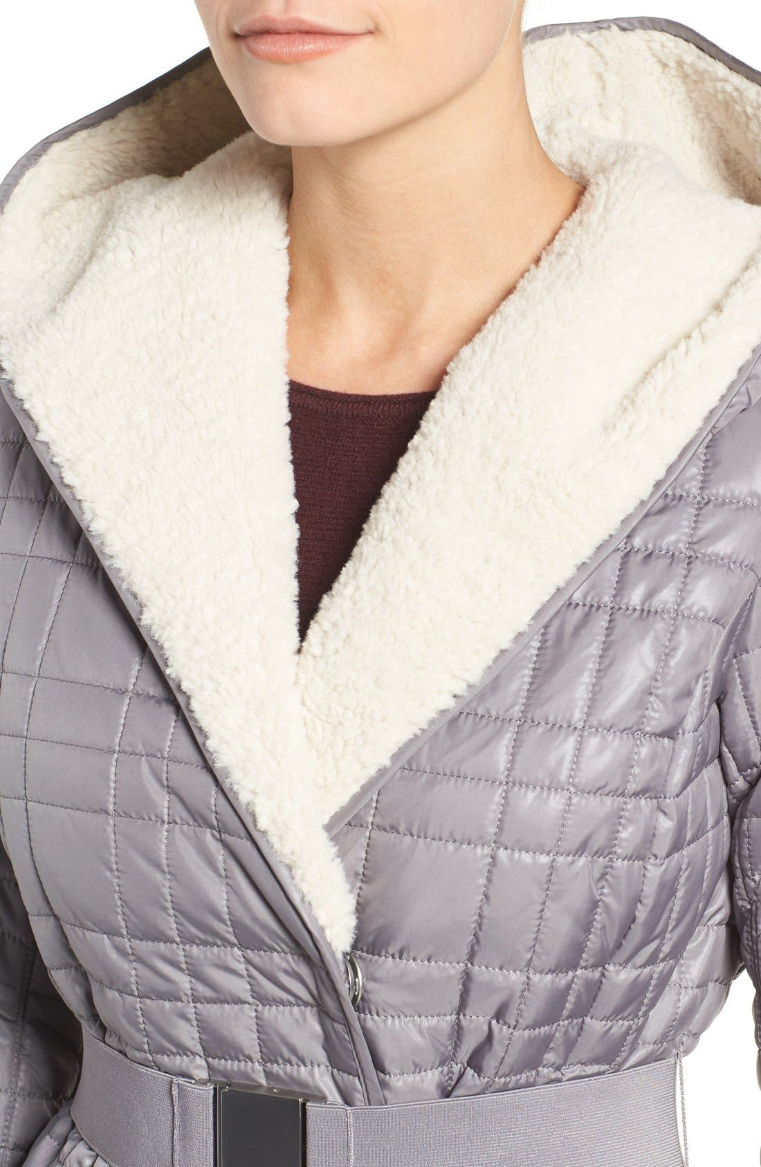 Alternate Image 4  - Kenneth Cole New York Faux Shearling Lined Puffer Coat