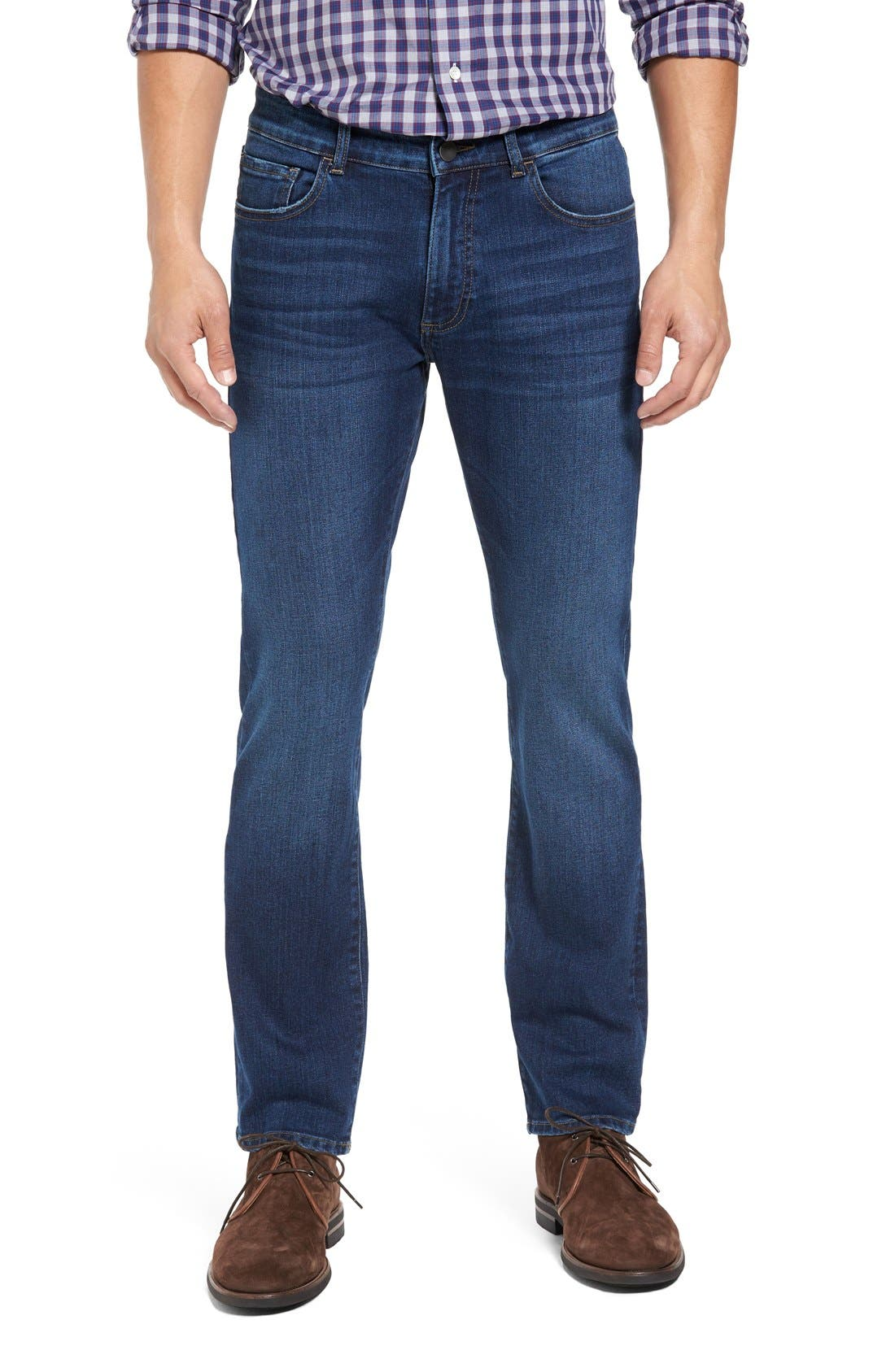 Alternate Image 1 Selected - DL1961 Russel Slim Straight Fit Jeans (Acre)