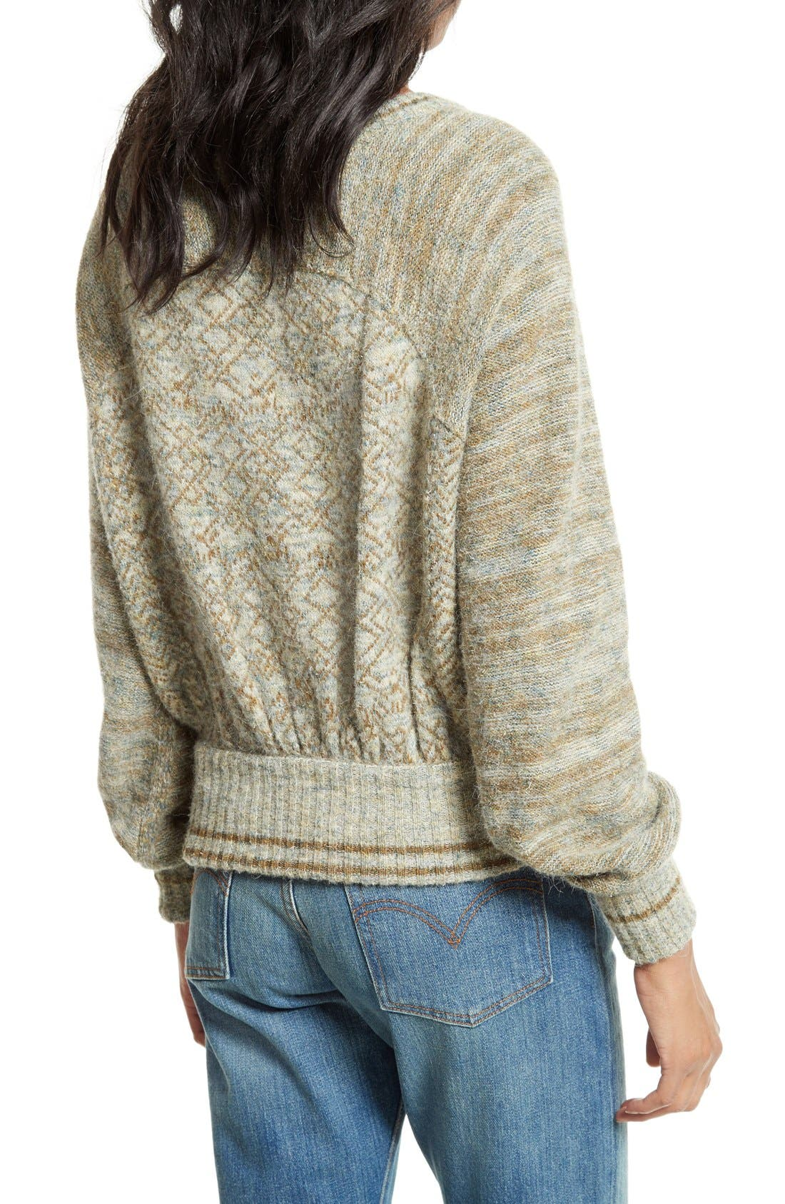 Alternate Image 2  - Free People Lace-Up Sweater