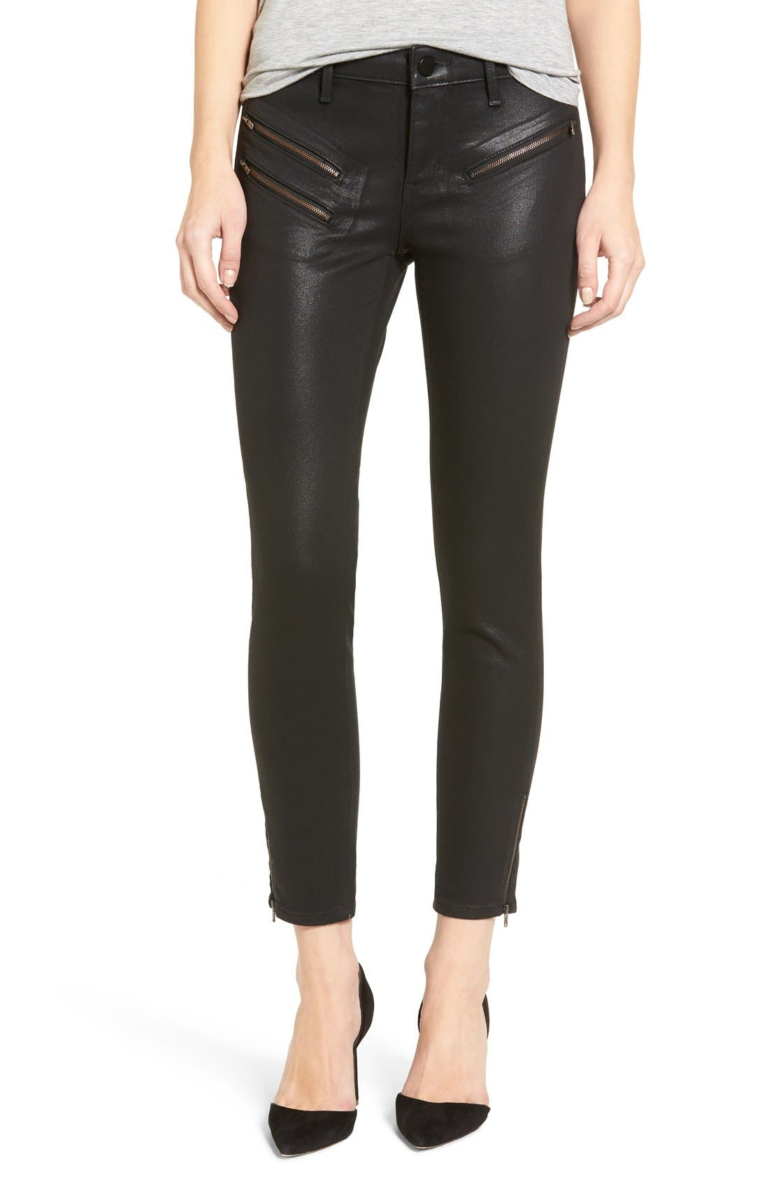 Main Image - Trouvé Coated Skinny Jeans
