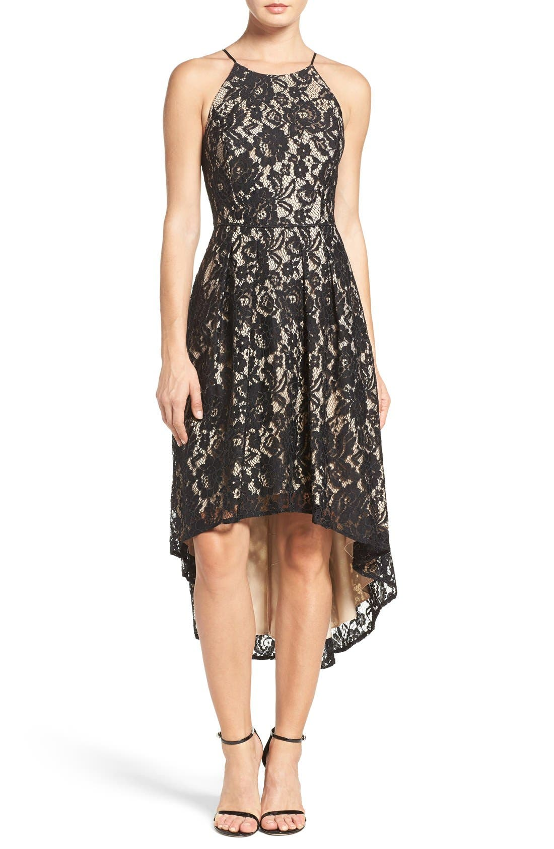 Main Image - Aidan by Aidan Mattox Lace Fit & Flare Dress