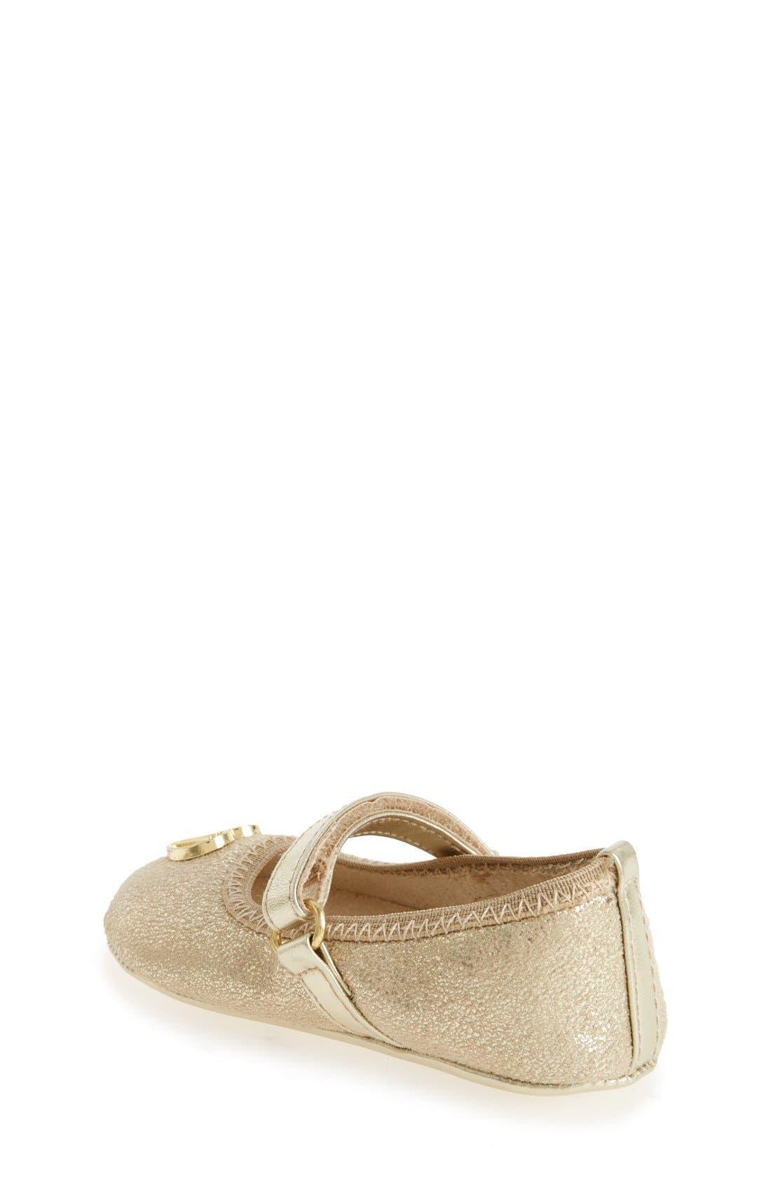 Alternate Image 2  - Stuart Weitzman Nameplate Mary Jane Crib Shoe (Baby)