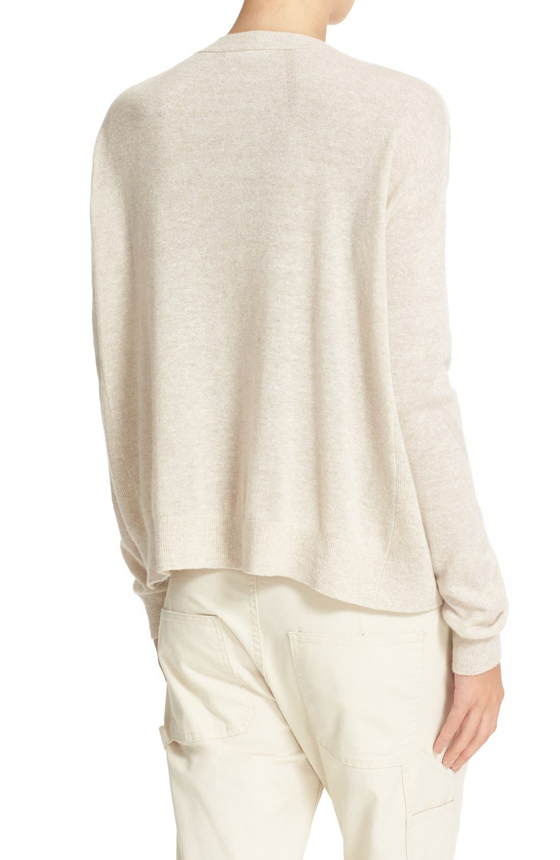 Linen & Cashmere Pullover,                             Alternate thumbnail 2, color,                             Heather Tan