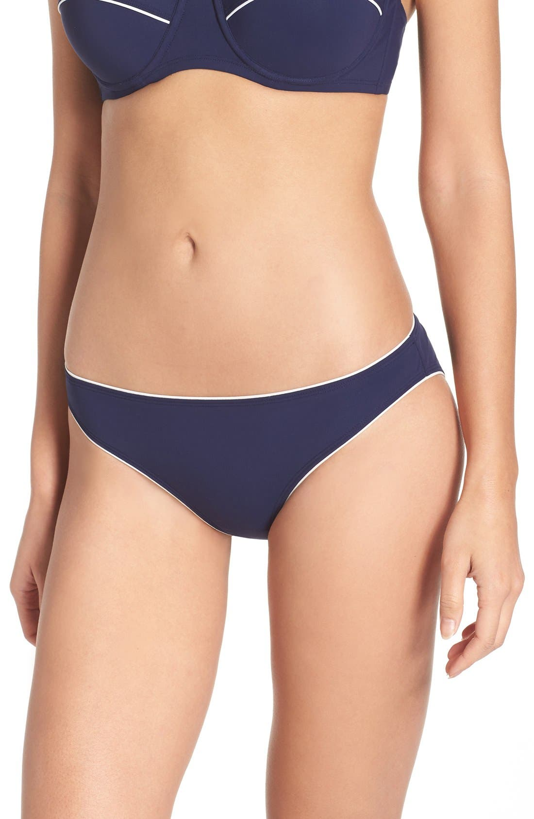 Riviera Hipster Bikini Bottoms,                         Main,                         color, Blue