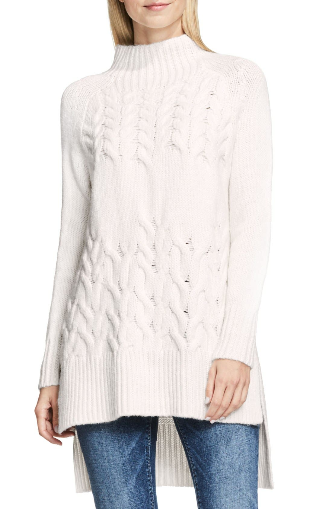 Main Image - Two by Vince Camuto Mock Neck Tunic Sweater