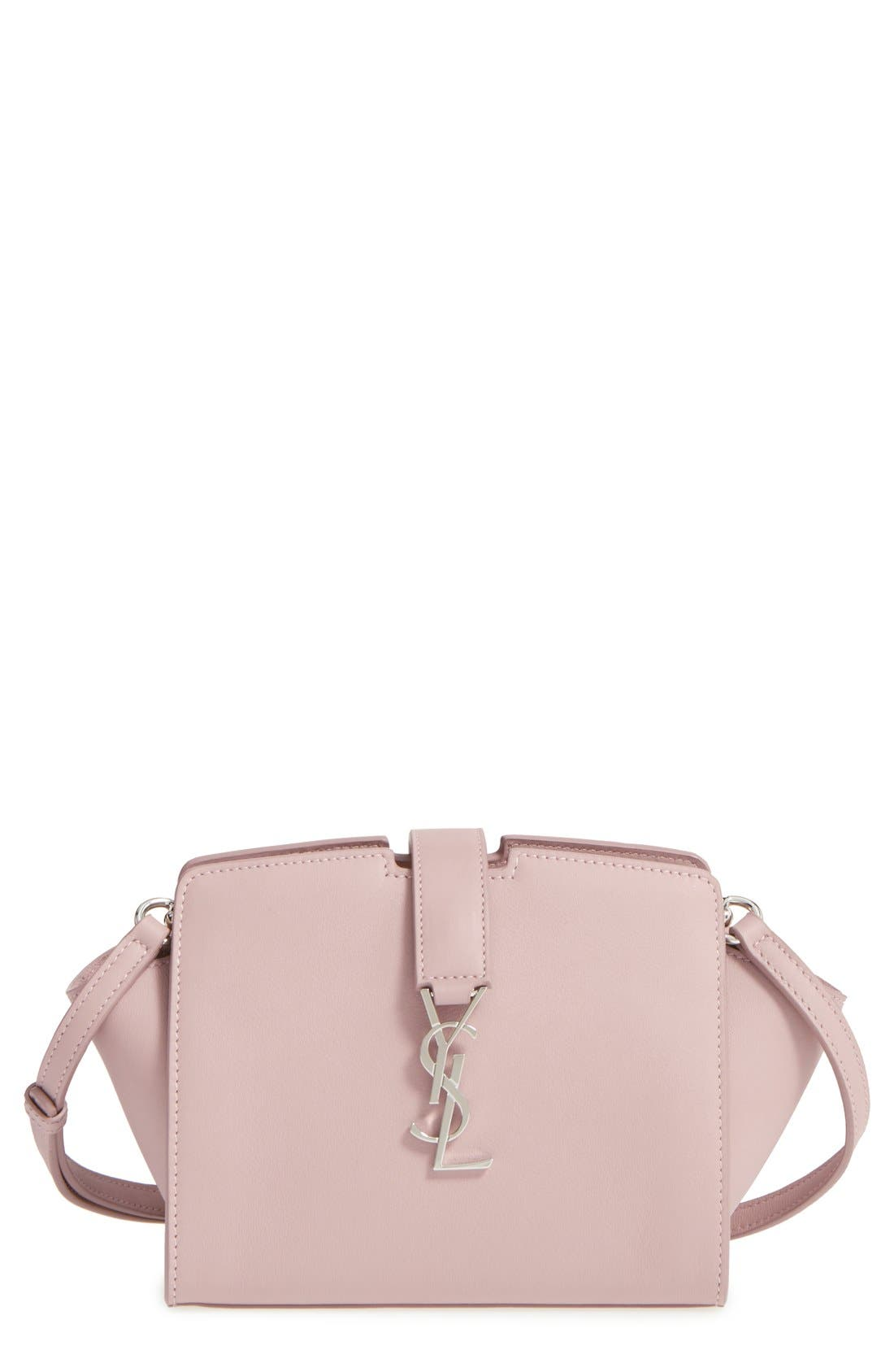 Toy Cabas Leather Crossbody Bag,                             Main thumbnail 1, color,                             Rose Antic
