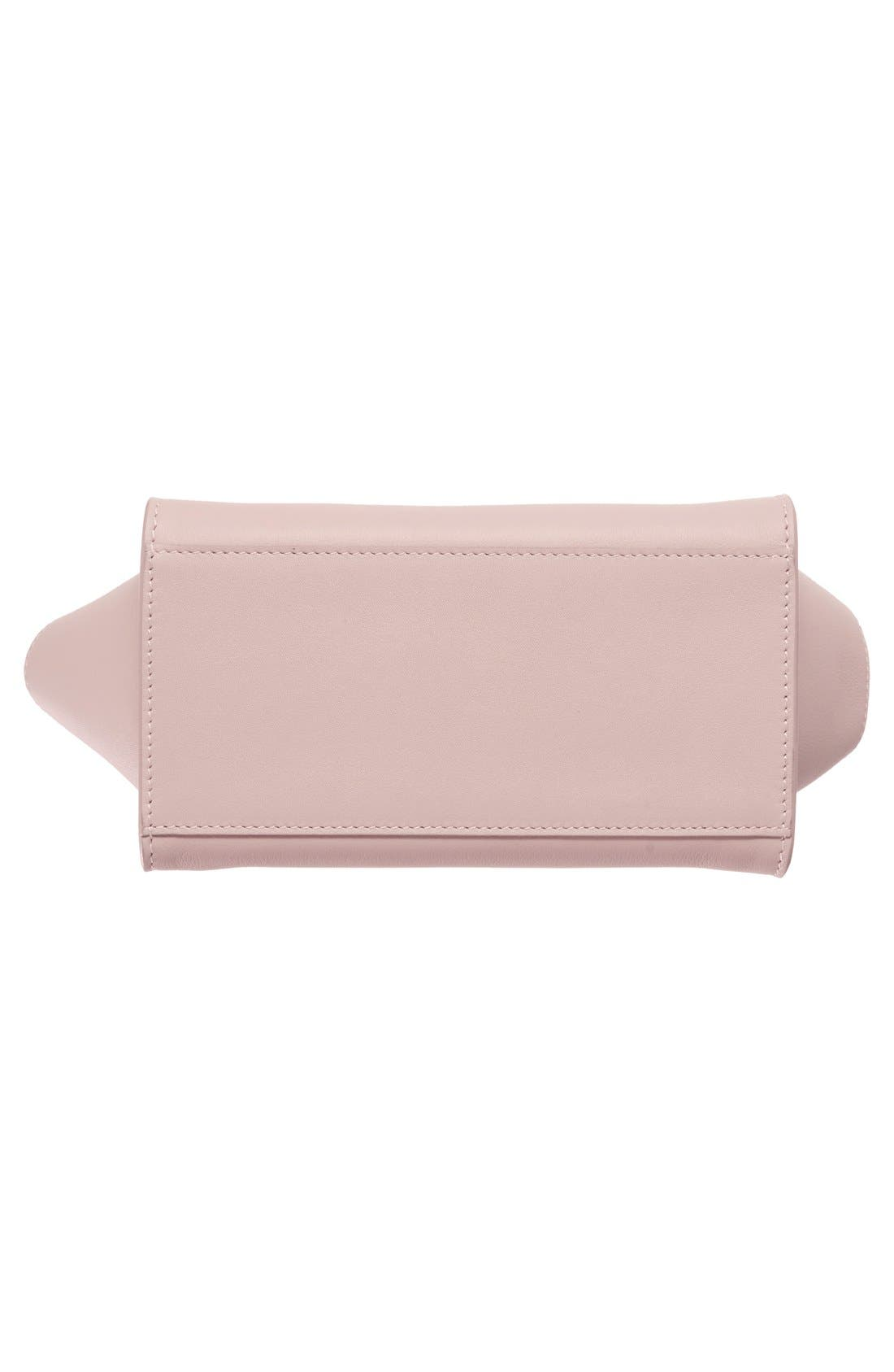 Toy Cabas Leather Crossbody Bag,                             Alternate thumbnail 6, color,                             Rose Antic