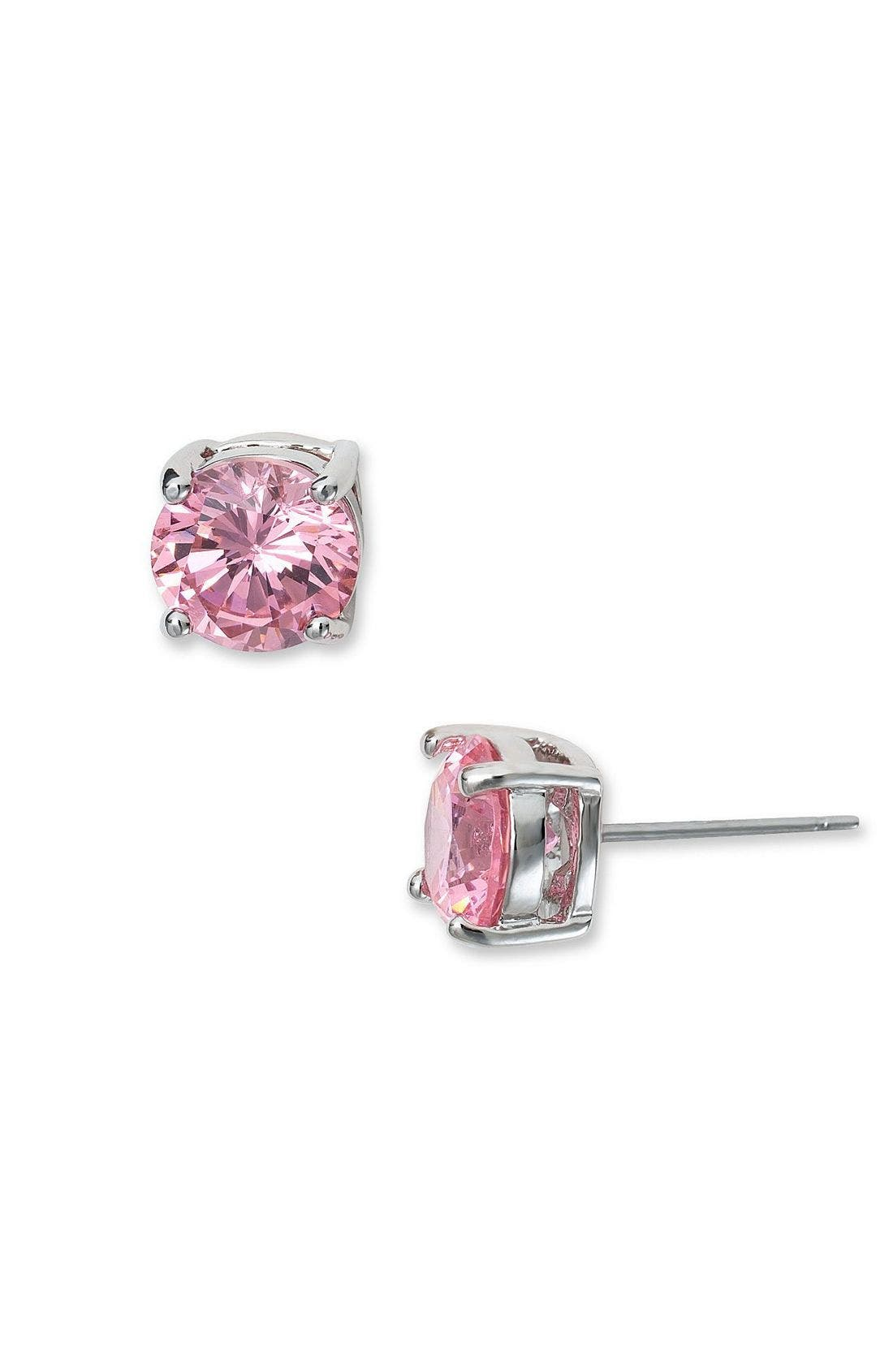 Alternate Image 1 Selected - Rachel Cubic Zirconia Stud Earrings