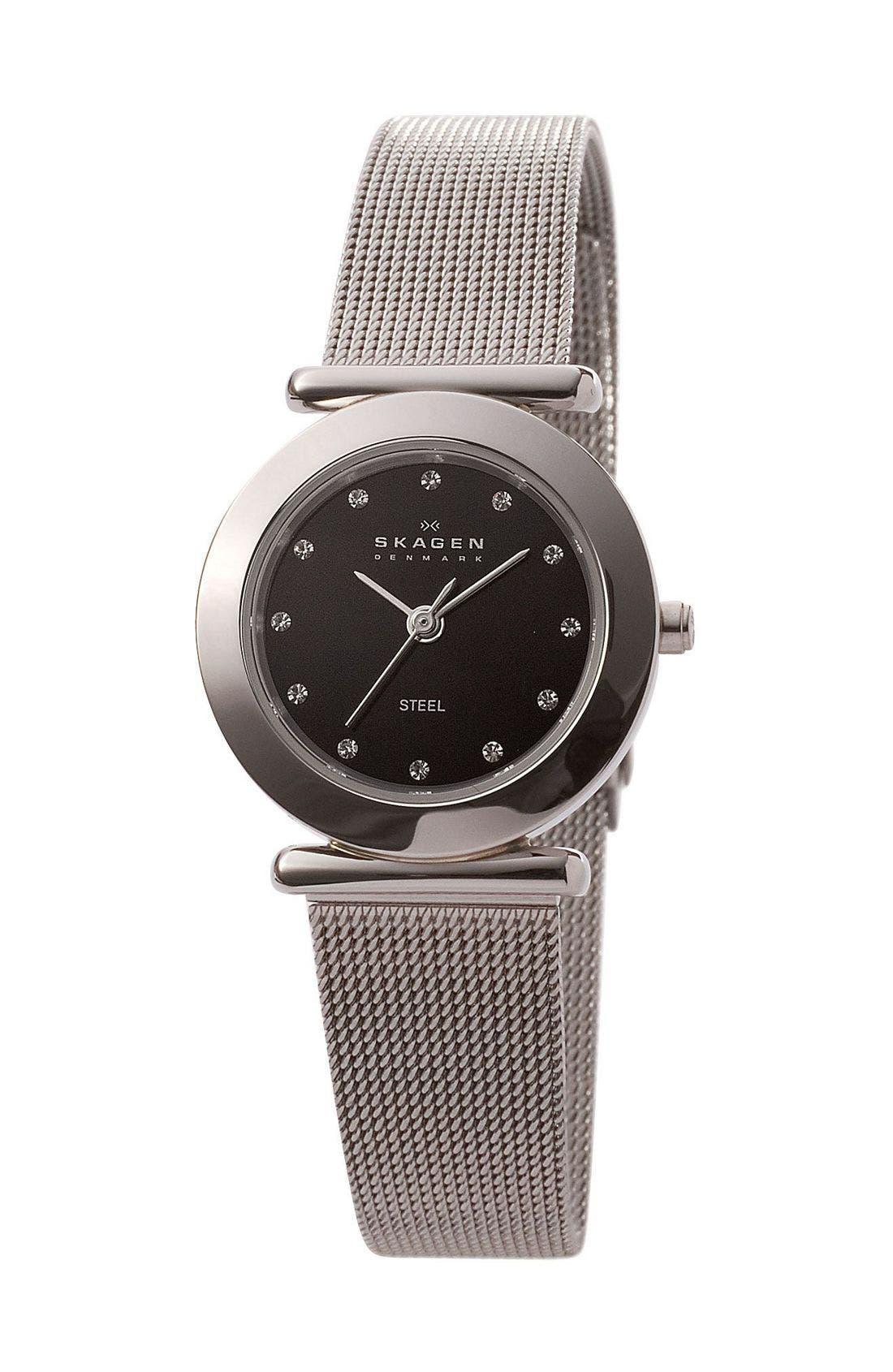 Main Image - Skagen Mesh Band Watch, 25mm