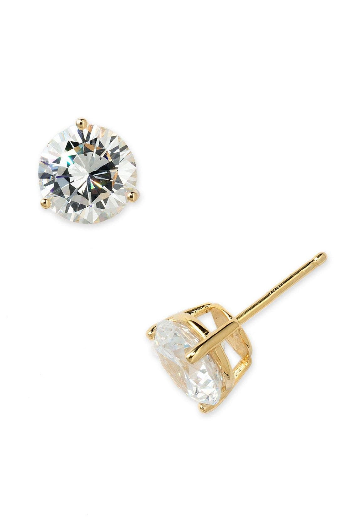 Alternate Image 2  - Nordstrom Precious Metal Plated 6ct tw Cubic Zirconia Earrings