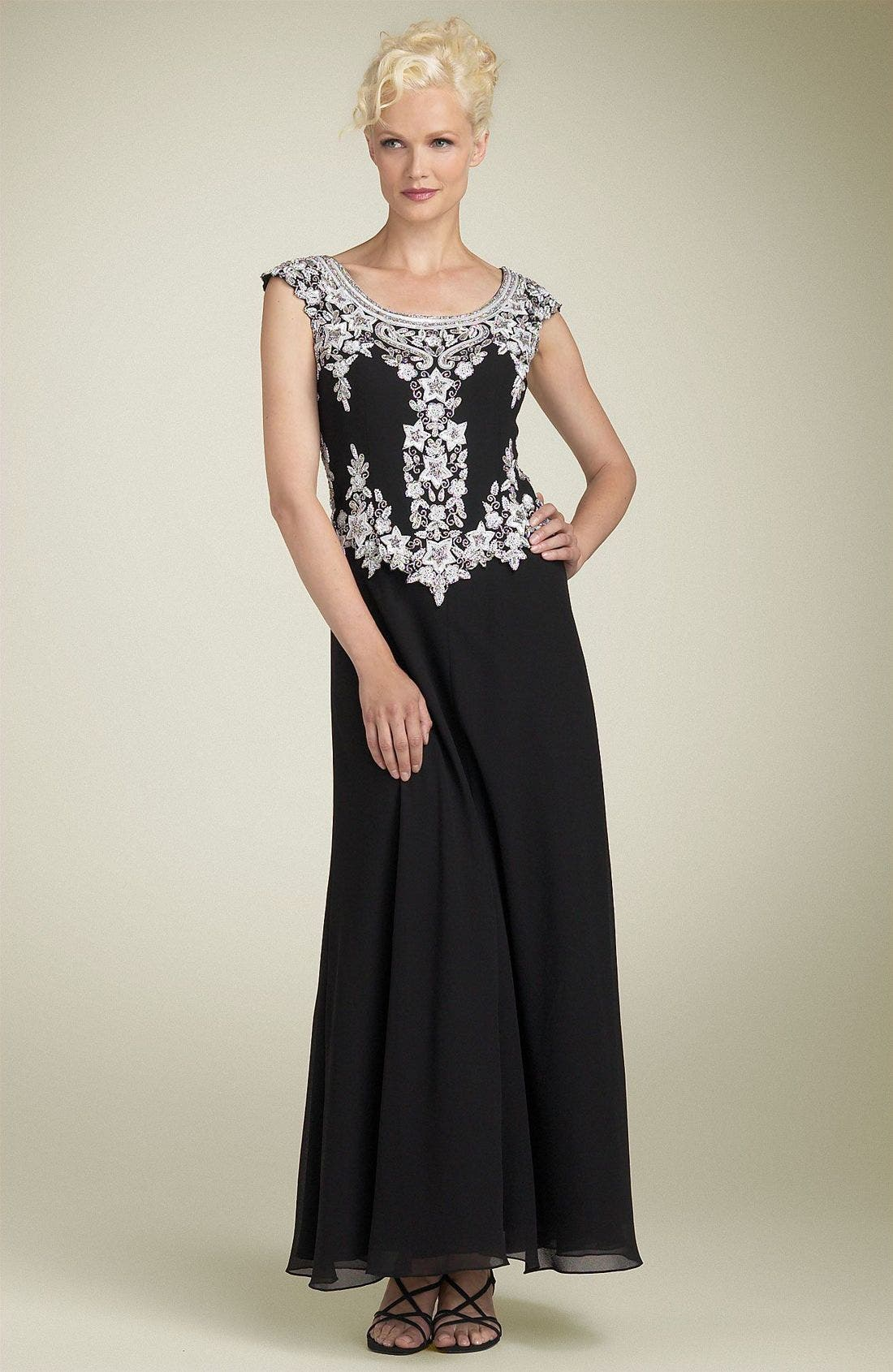 Alternate Image 1 Selected - J Kara Mock Two Piece Scalloped Dress