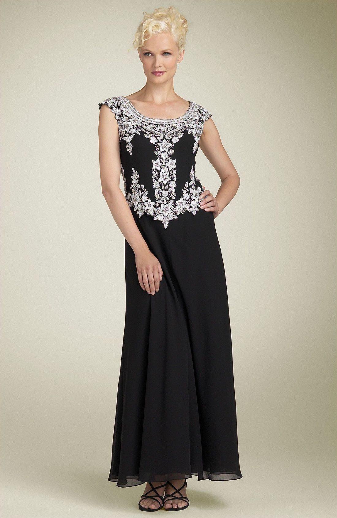 Main Image - J Kara Mock Two Piece Scalloped Dress