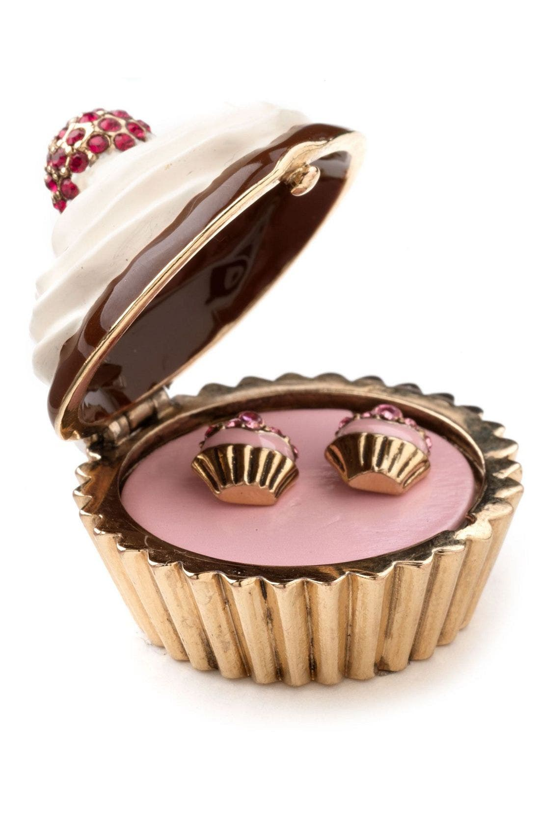 Main Image - Juicy Couture 'Puff' Earrings & Jewelry Box