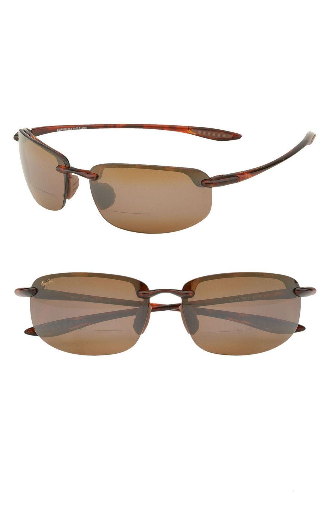 'Ho'okipa - PolarizedPlus<sup>®</sup>2' Reader Sunglasses,                         Main,                         color, Tortoise / Brown