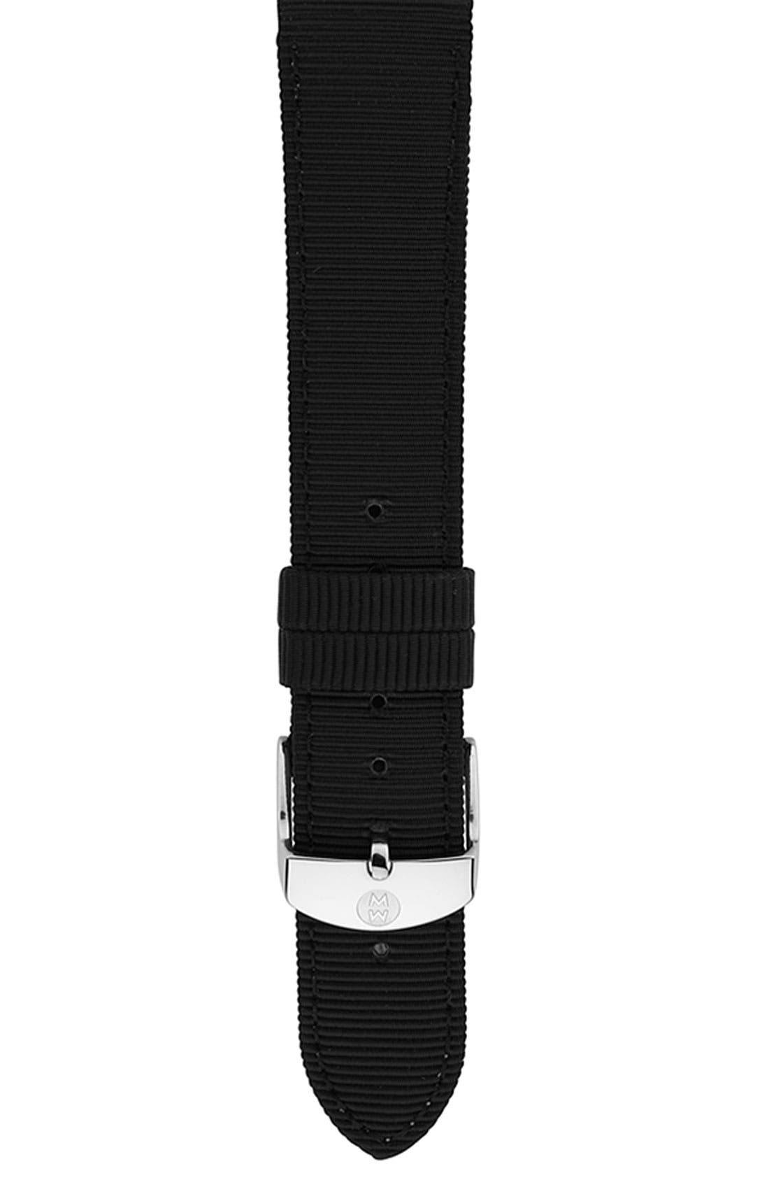 Main Image - MICHELE 18mm Grosgrain Watch Strap