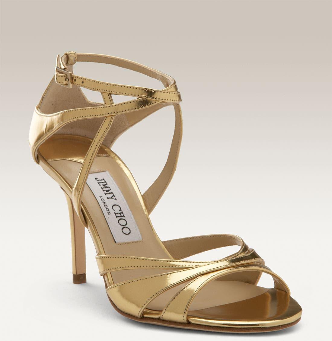 Main Image - Jimmy Choo 'Freya' Metallic Leather Sandal