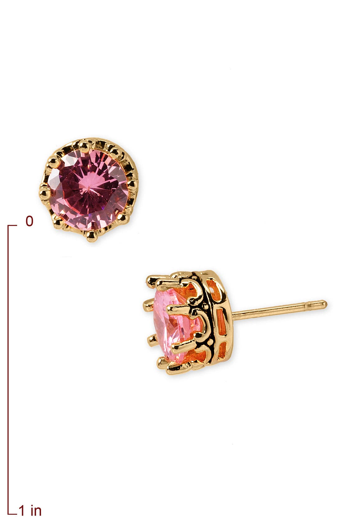Alternate Image 2  - Juicy Couture 'Princess' Cubic Zirconia Studs