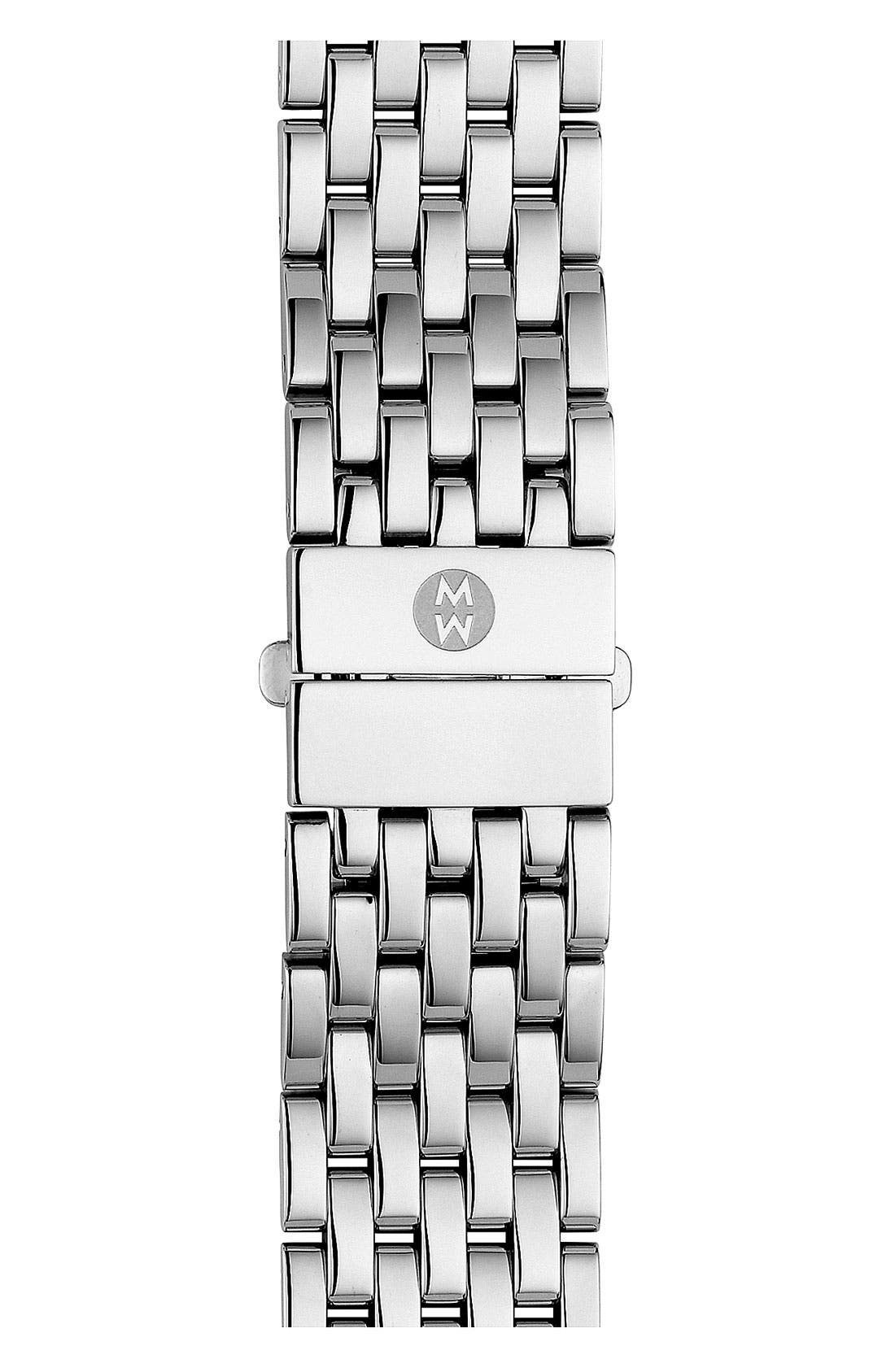 Alternate Image 1 Selected - MICHELE 'Deco' 20mm Two-Tone Bracelet Watchband