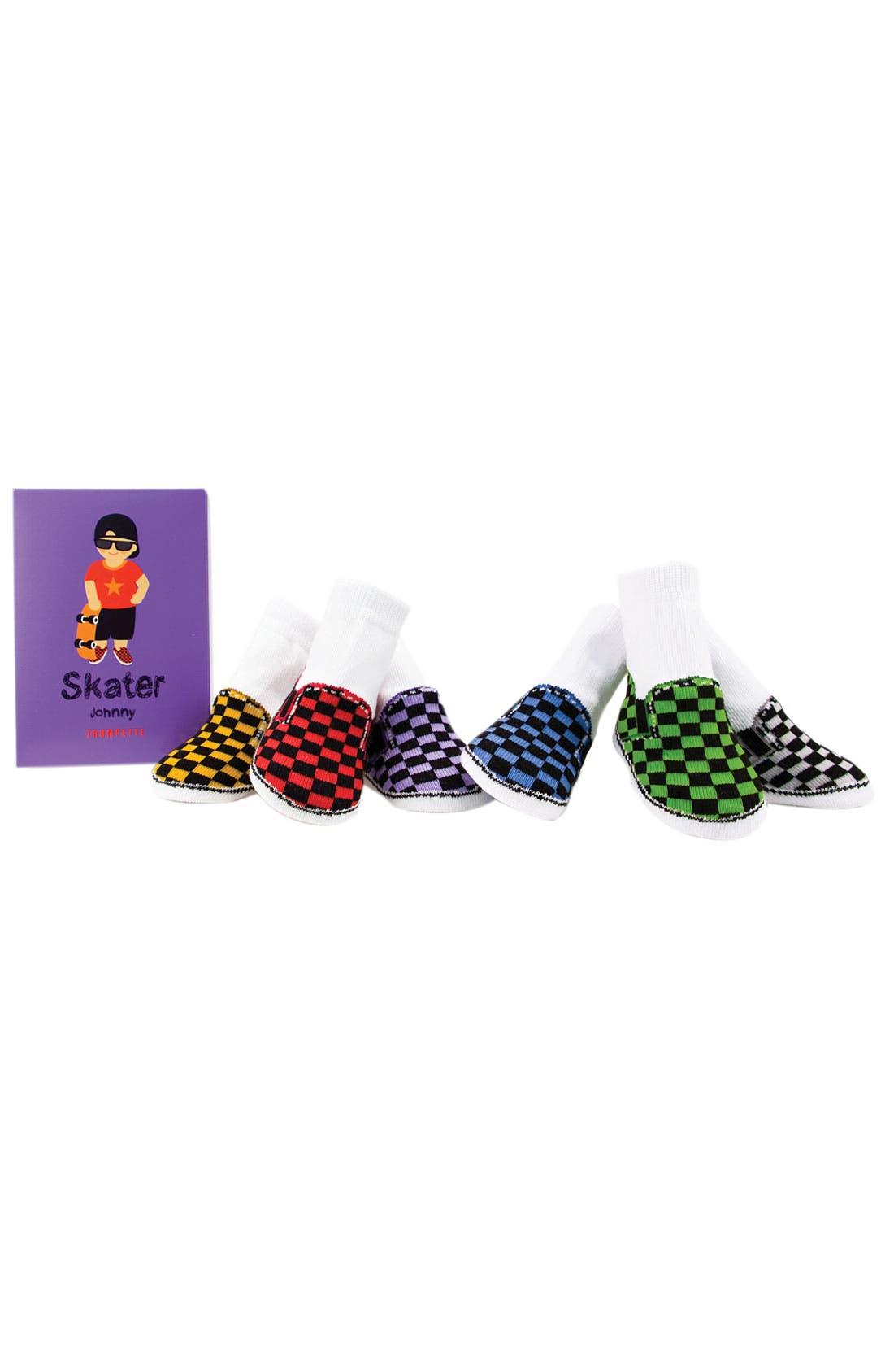 Main Image - Trumpette 'Skater' Socks Gift Set (Baby Boys)