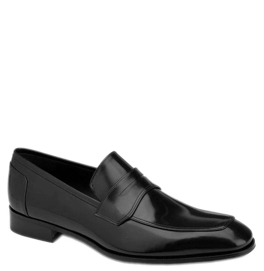 'Lionel' Loafer,                             Main thumbnail 1, color,                             Black Calf