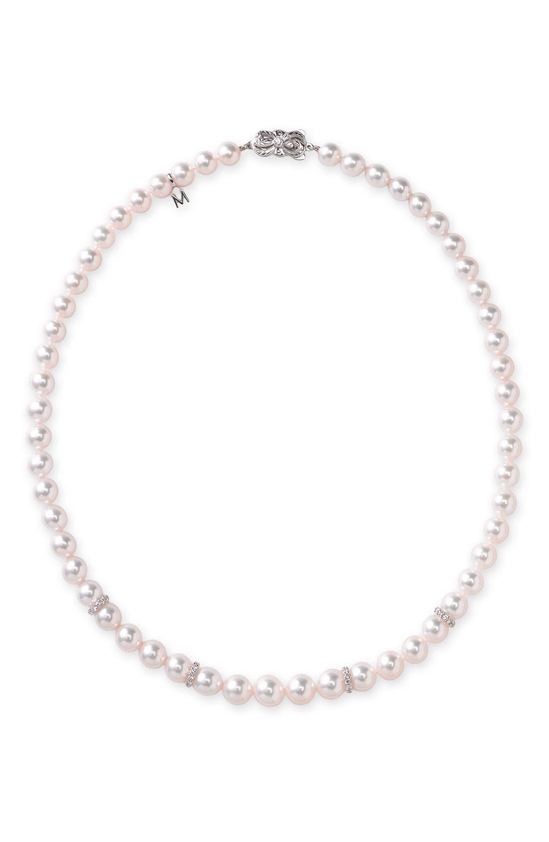 MIKIMOTO DIAMOND & PEARL NECKLACE