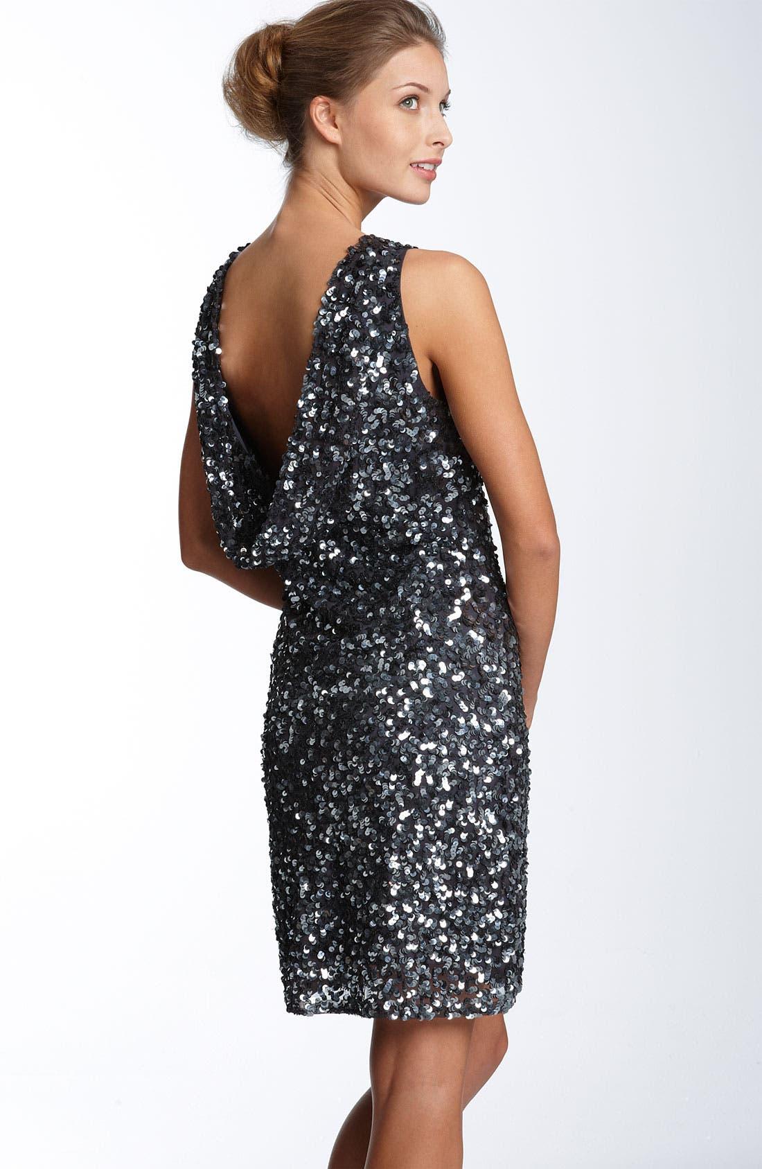 Alternate Image 2  - Pisarro Nights Drape Back Paillette Dress