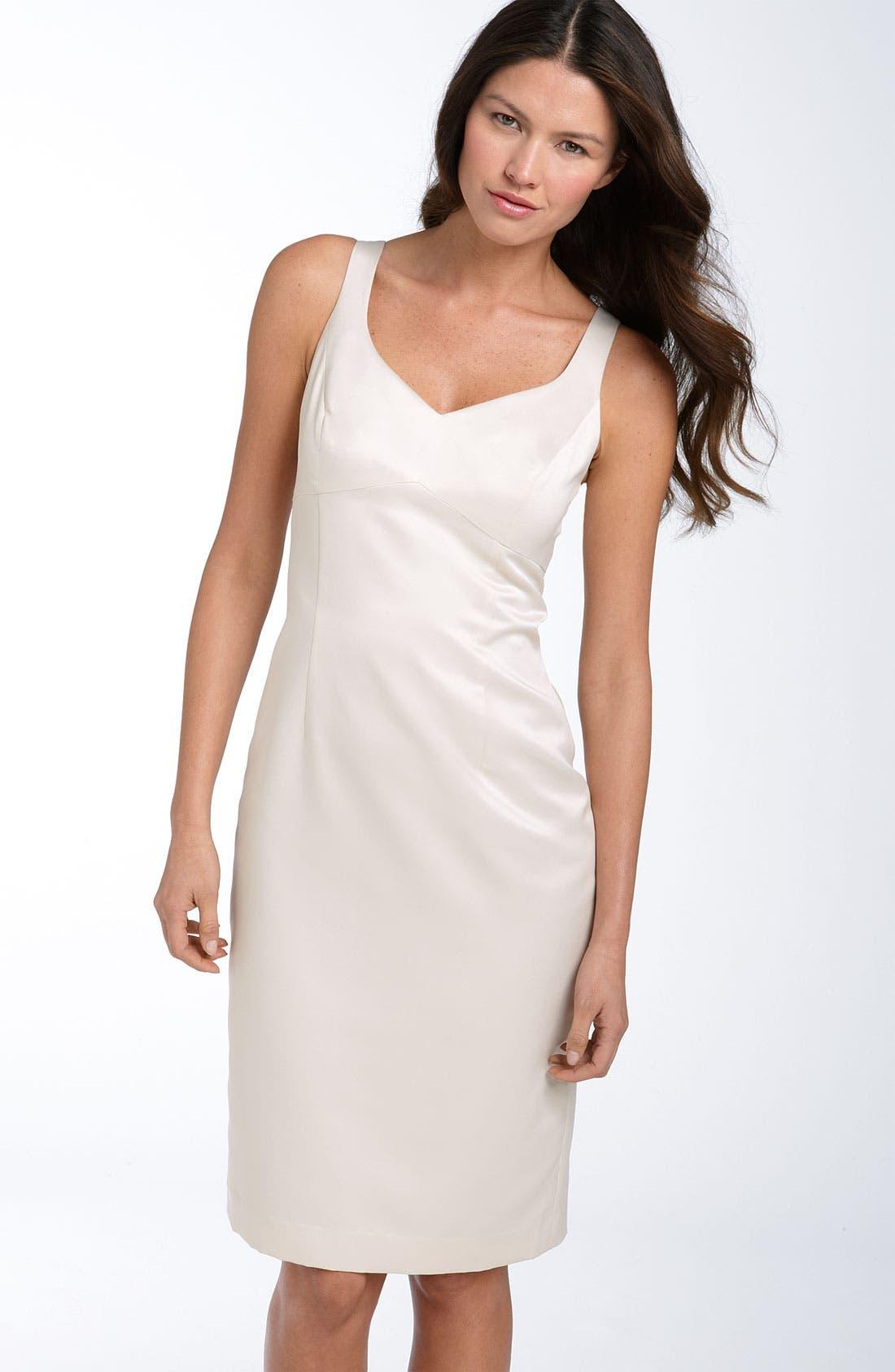 Alternate Image 2  - Adrianna Papell Sheath Dress with Jacquard Jacket