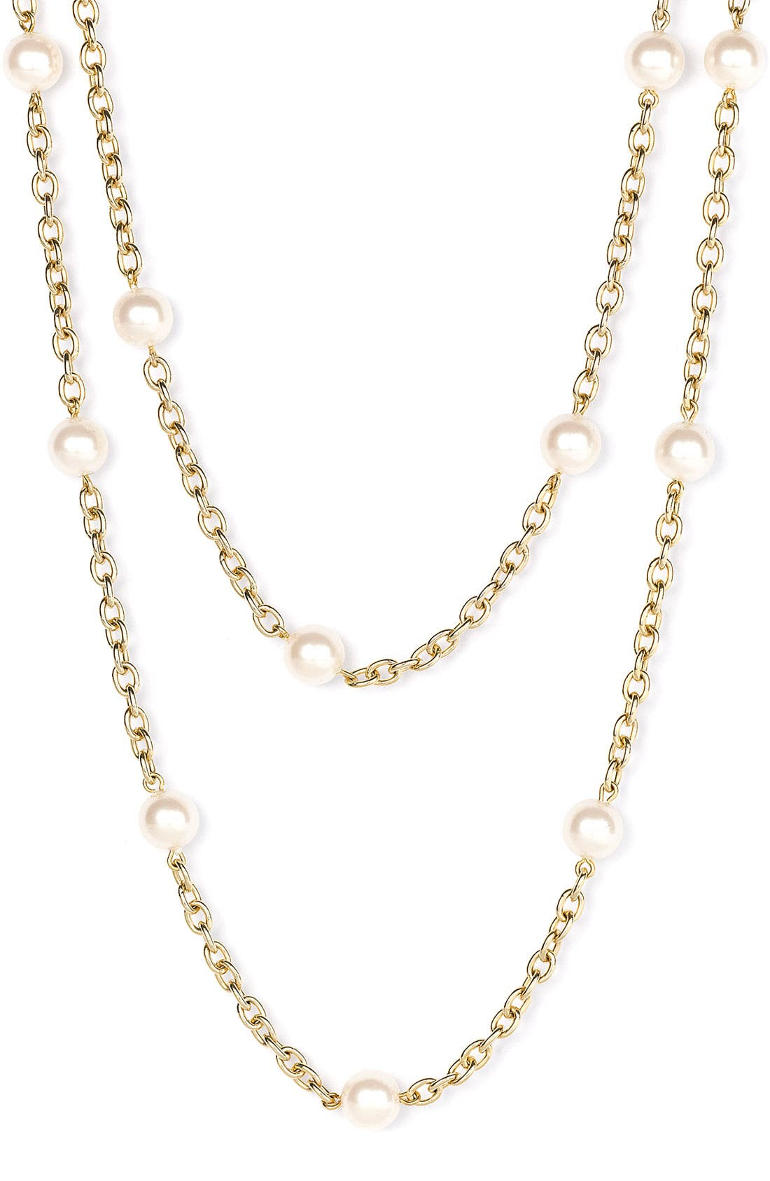 Main Image - Nordstrom Glass Pearl Extra Long Strand Necklace