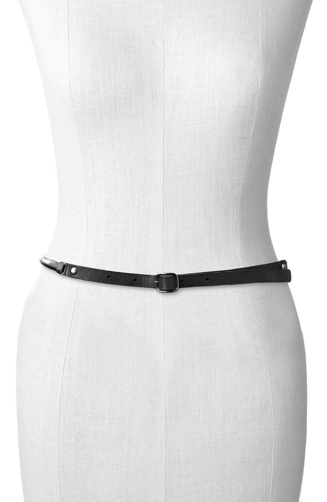 Main Image - Belgo Lux 'Metal Stretch' Skinny Belt