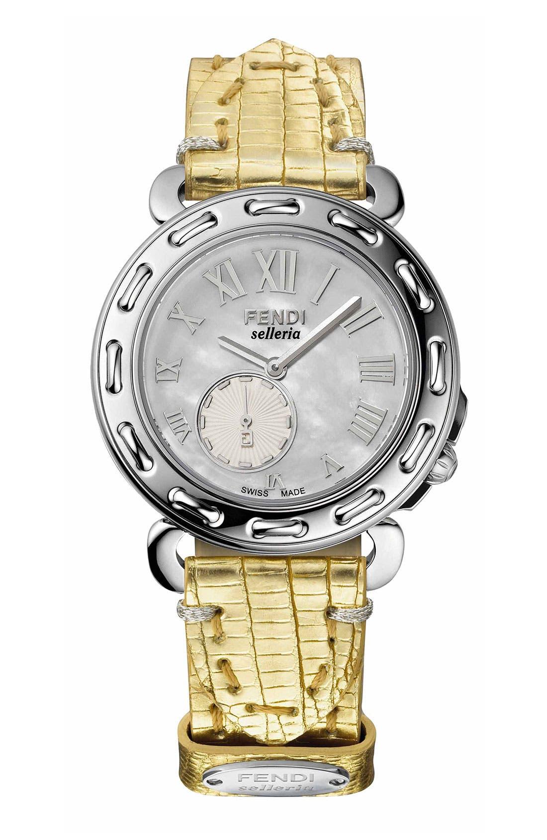 Main Image - Fendi 'Selleria' Customizable Watch