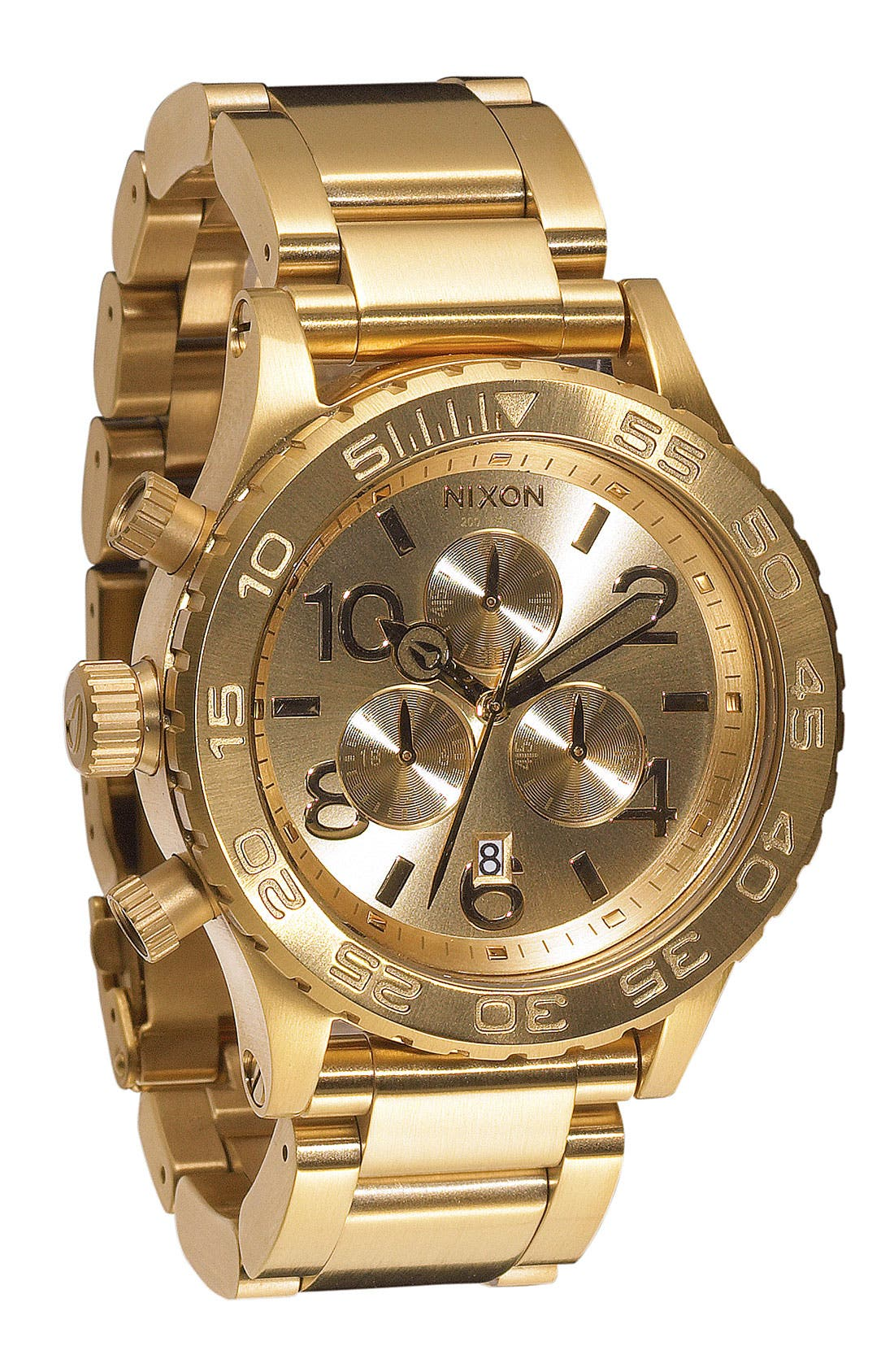 'The 42-20 Chrono' Watch,                             Main thumbnail 1, color,                             Gold