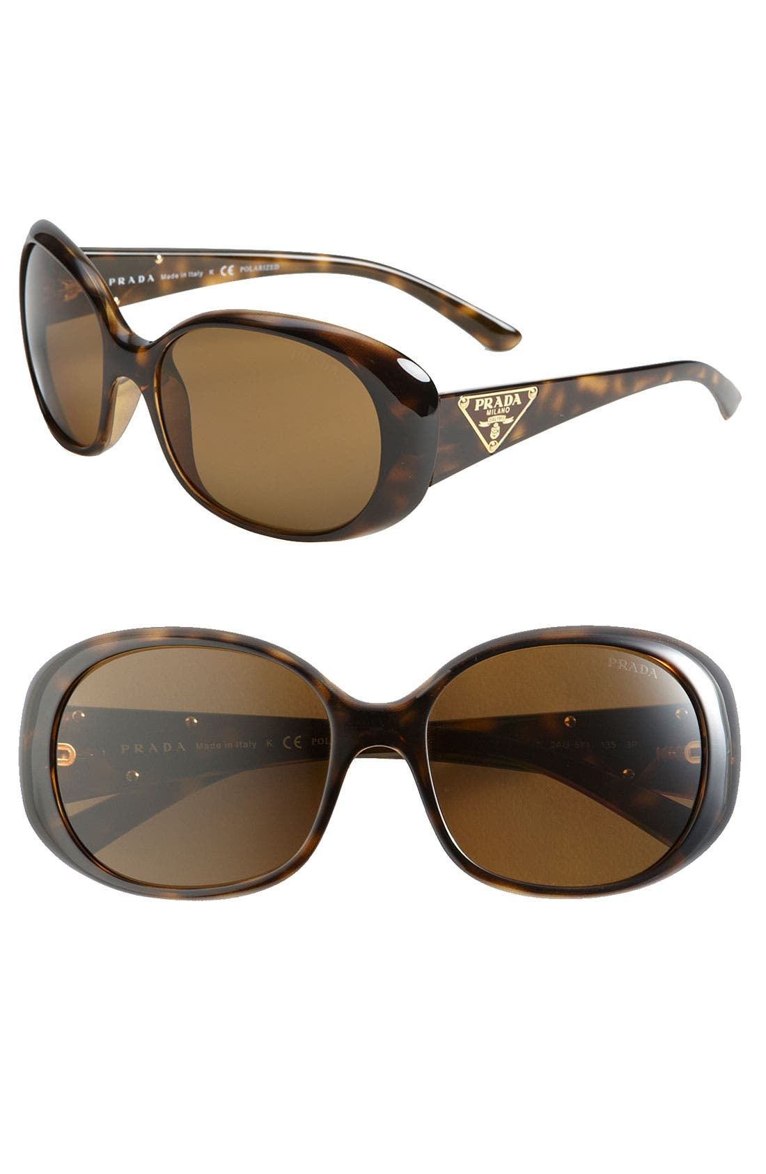 Alternate Image 1 Selected - Prada 'P-Glam' Round Sunglasses