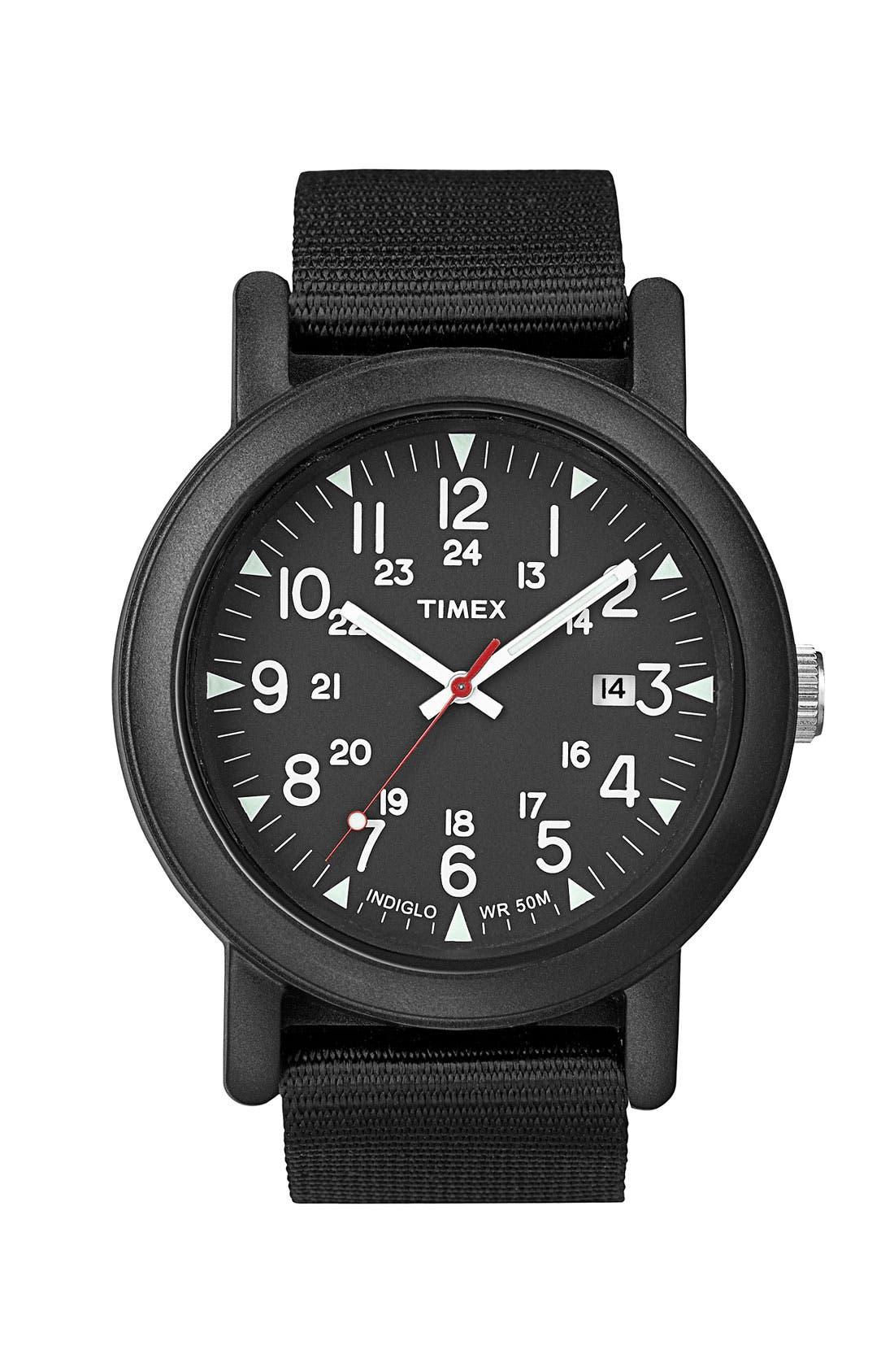 'Camper' Resin Watch,                             Main thumbnail 1, color,                              Black