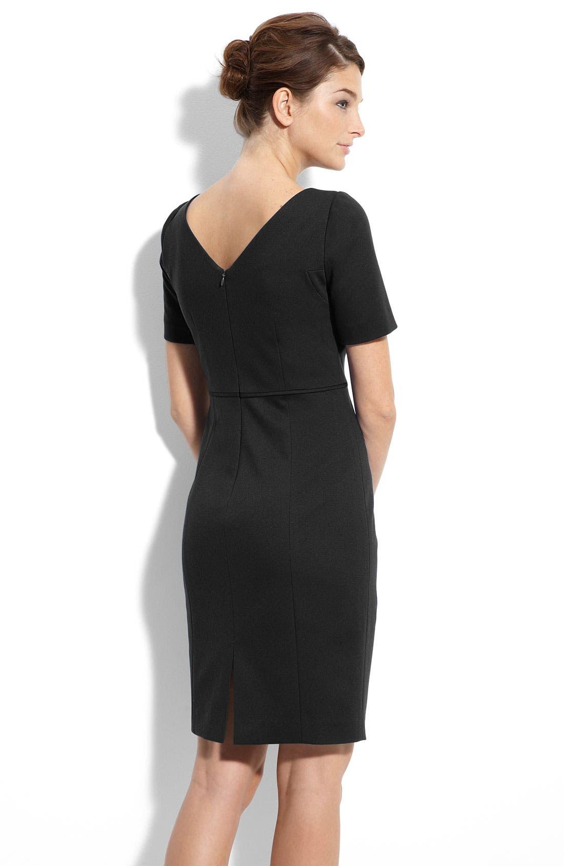 Alternate Image 2  - Tahari by Arthur S. Levine Seamed Ponte Knit Sheath Dress