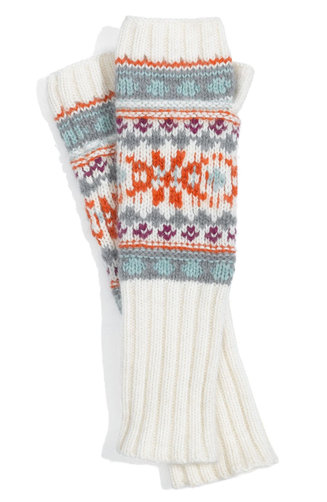 Alternate Image 1 Selected - Rubbish® Fair Isle Fingerless Gloves