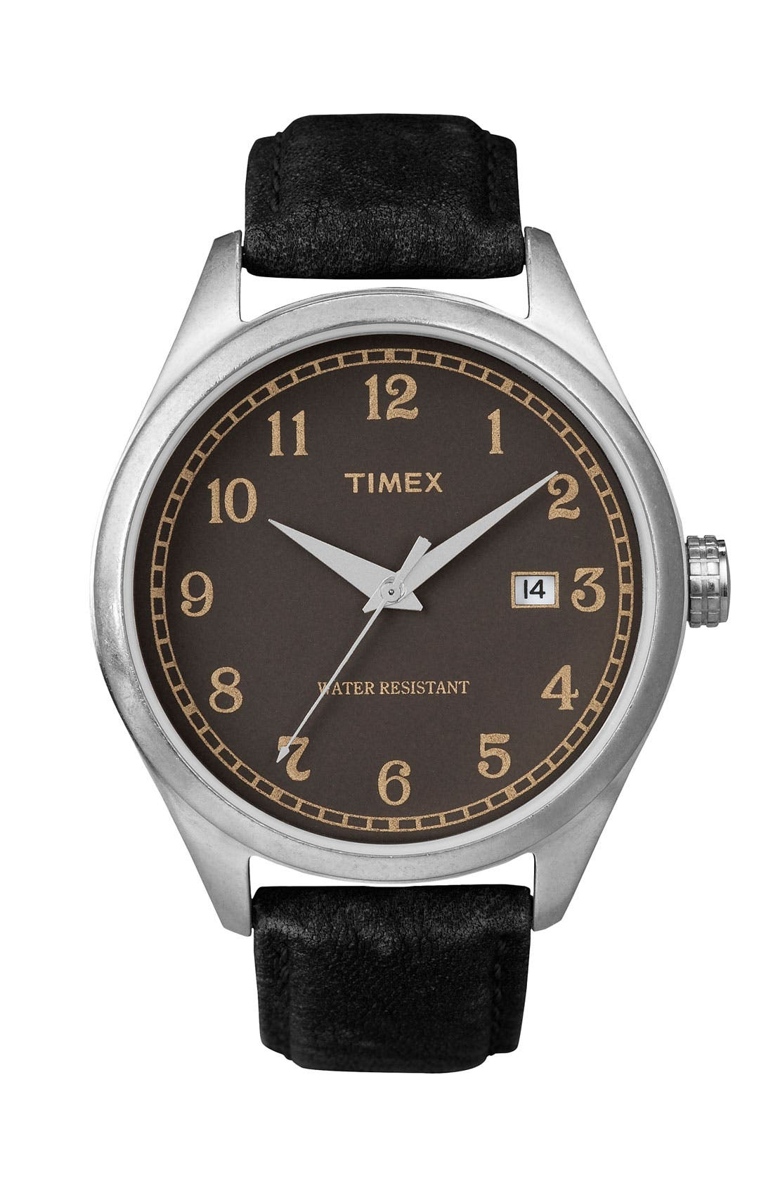 Alternate Image 1 Selected - Timex® 'Originals - 1900s' Leather Strap Watch