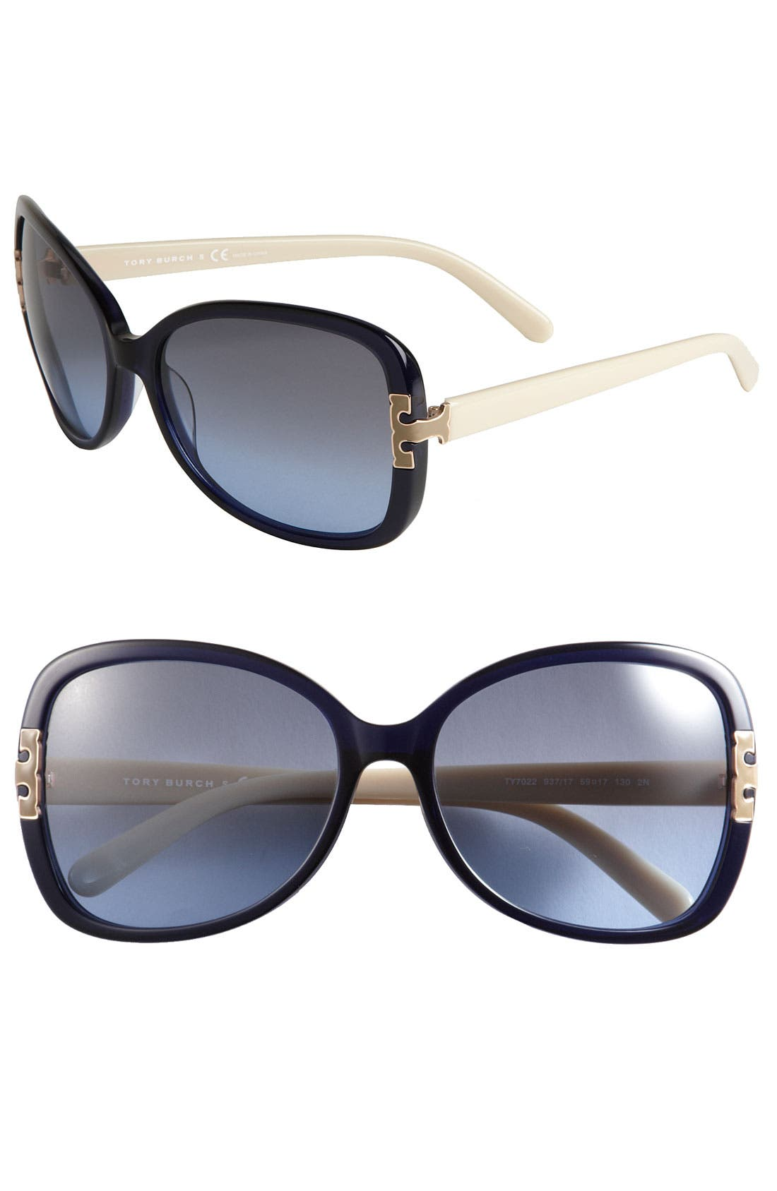 Alternate Image 1 Selected - Tory Burch 59mm Oversized Sunglasses