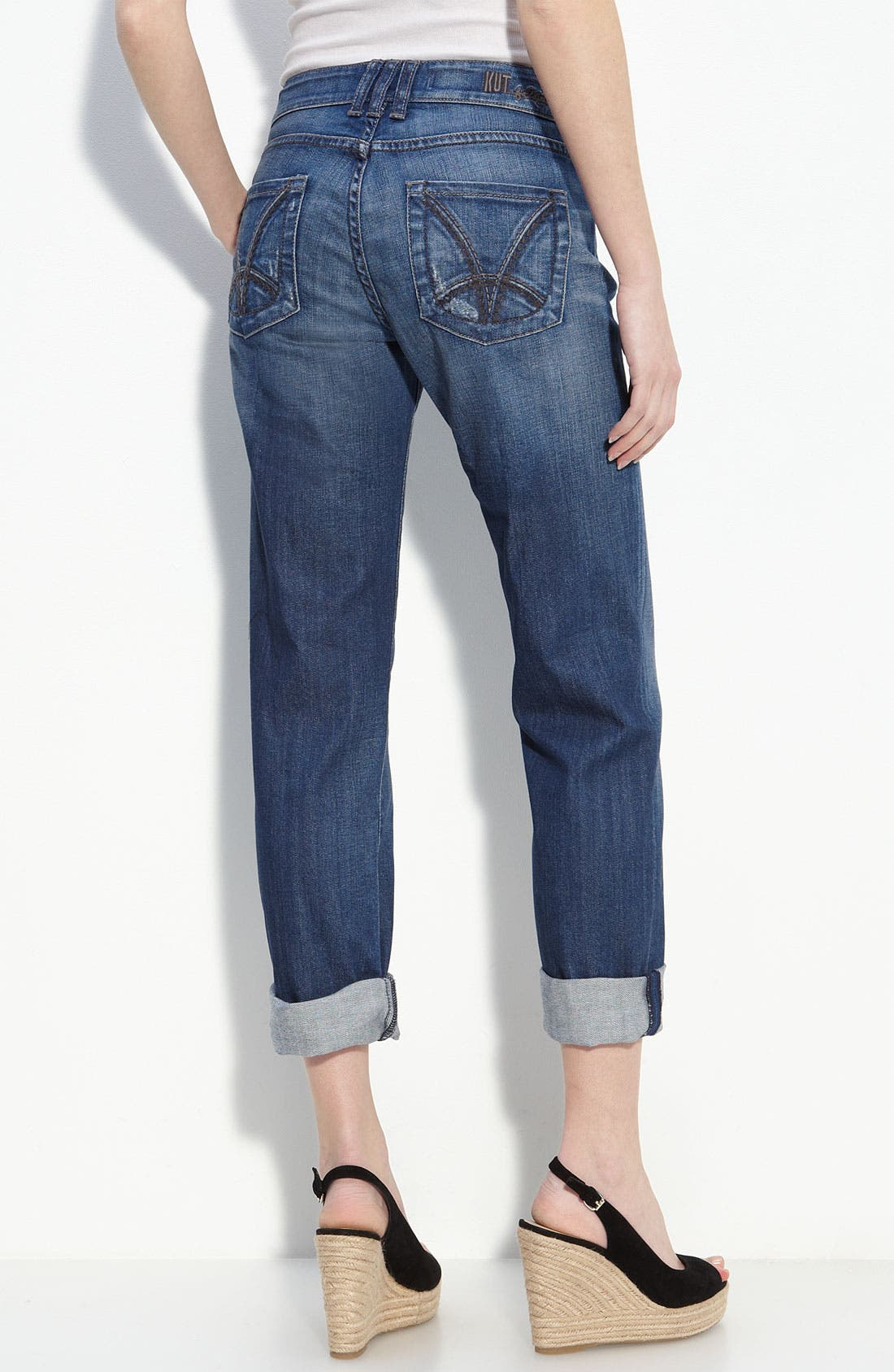 Alternate Image 2  - KUT from the Kloth 'Roll-Up' Boyfriend Stretch Jeans (Indulgent Wash)