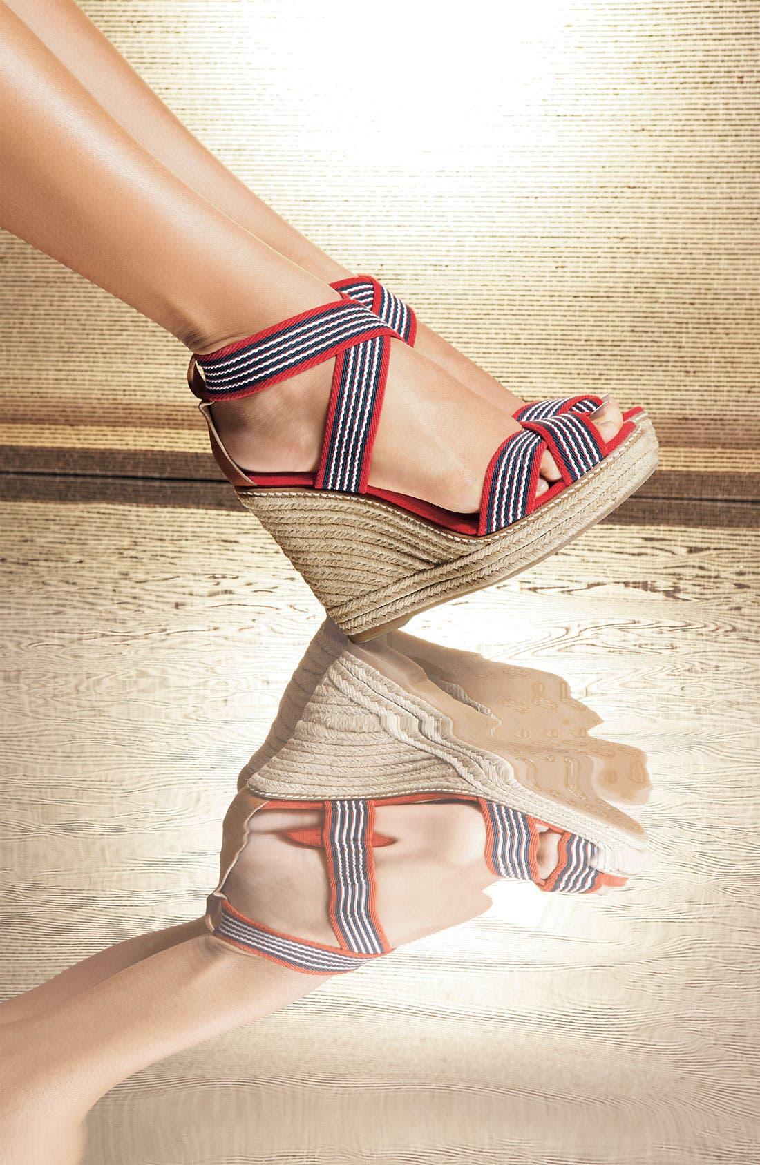 Alternate Image 4  - Tory Burch Stripe Elastic Strap Espadrille