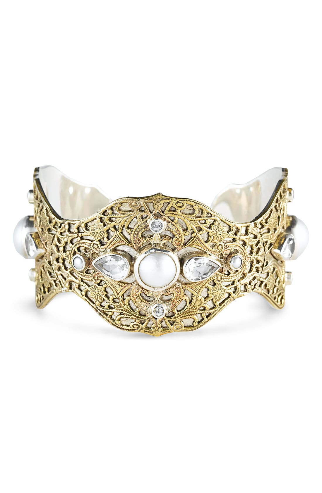 Alternate Image 1 Selected - Mars and Valentine 'Love & Happiness' Mabe Pearl Cuff