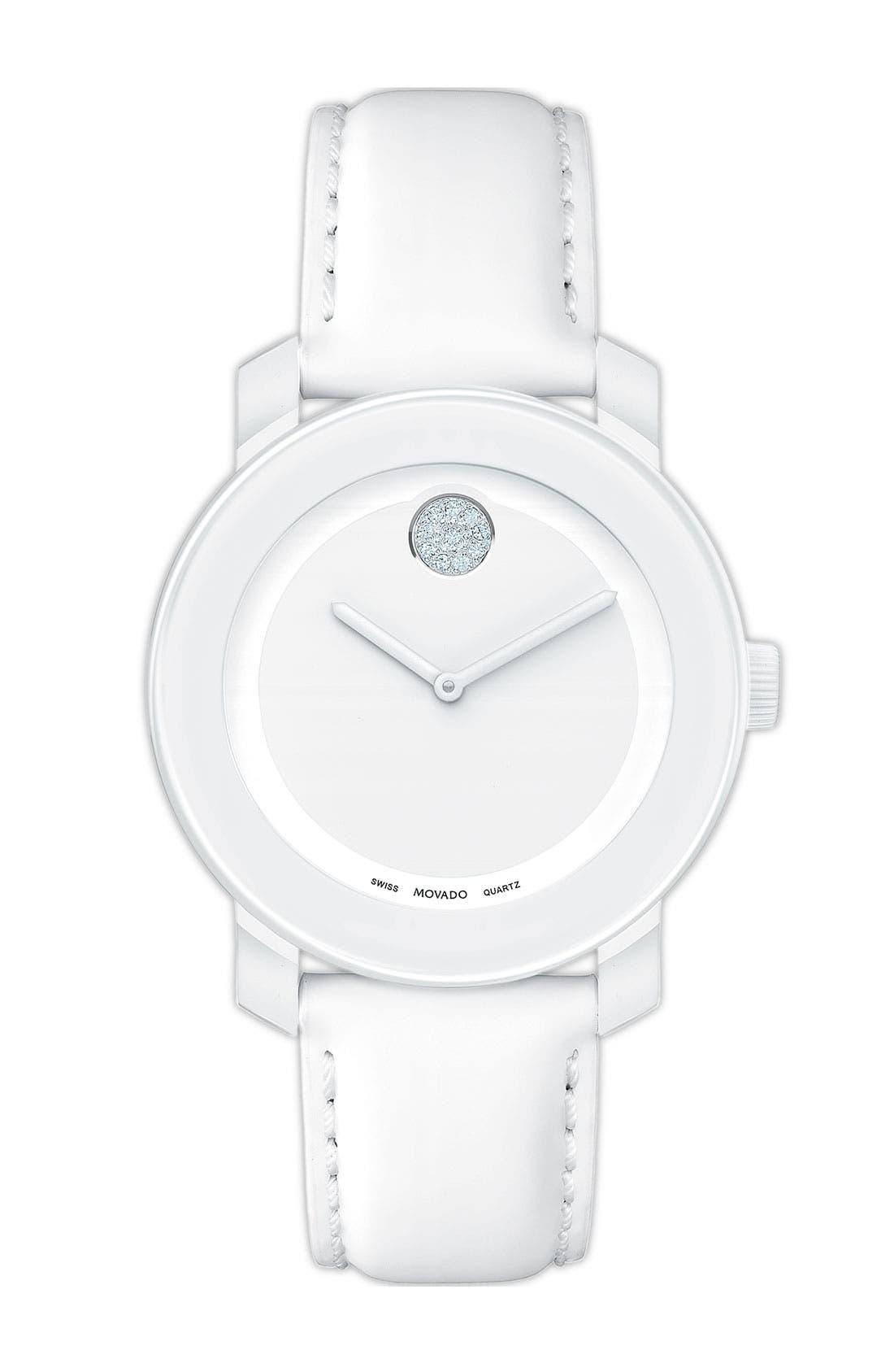 Main Image - Movado 'Small Bold' Crystal Marker Watch