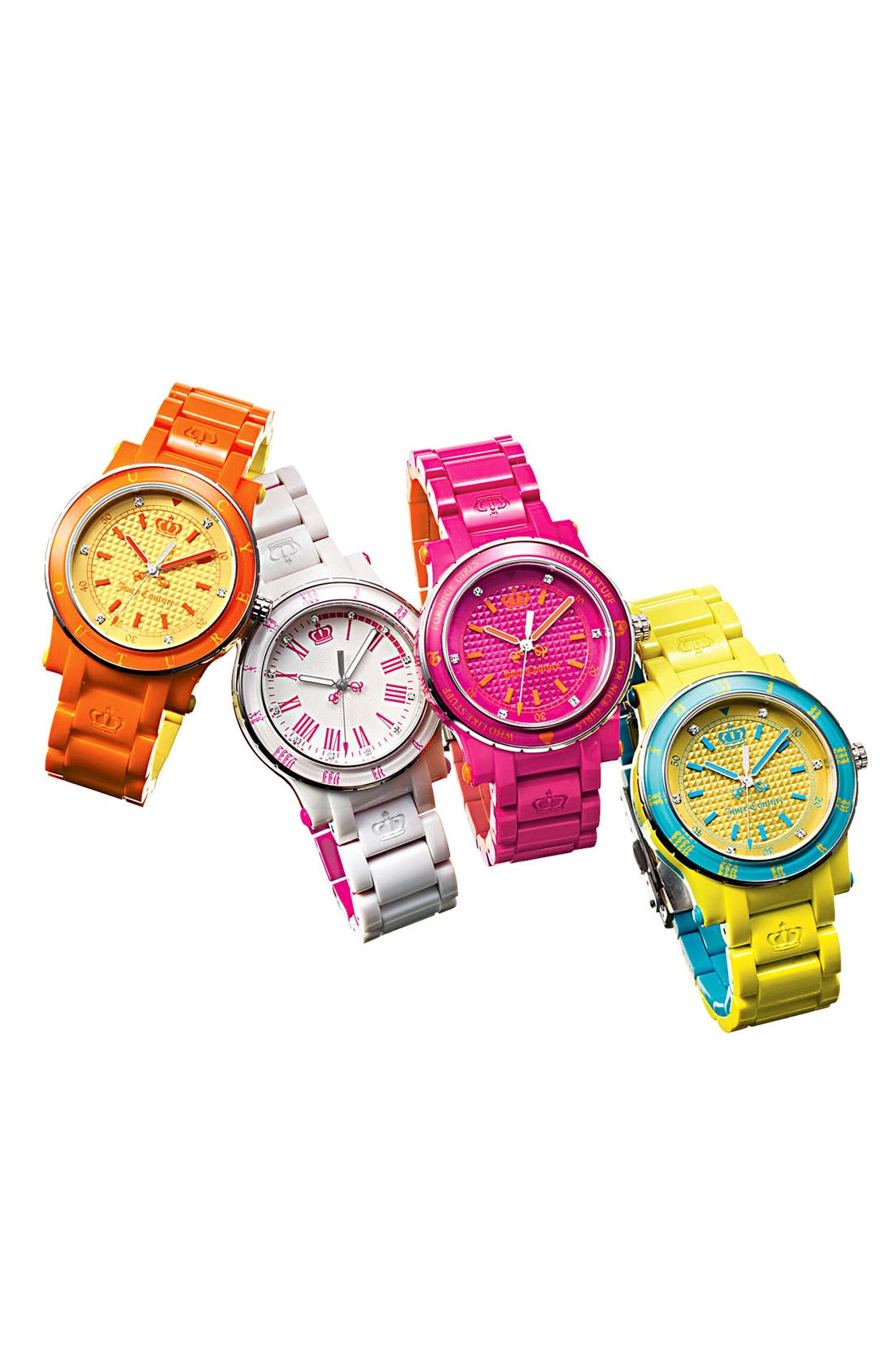 Alternate Image 2  - Juicy Couture 'Her Royal Highness' Plastic Watch