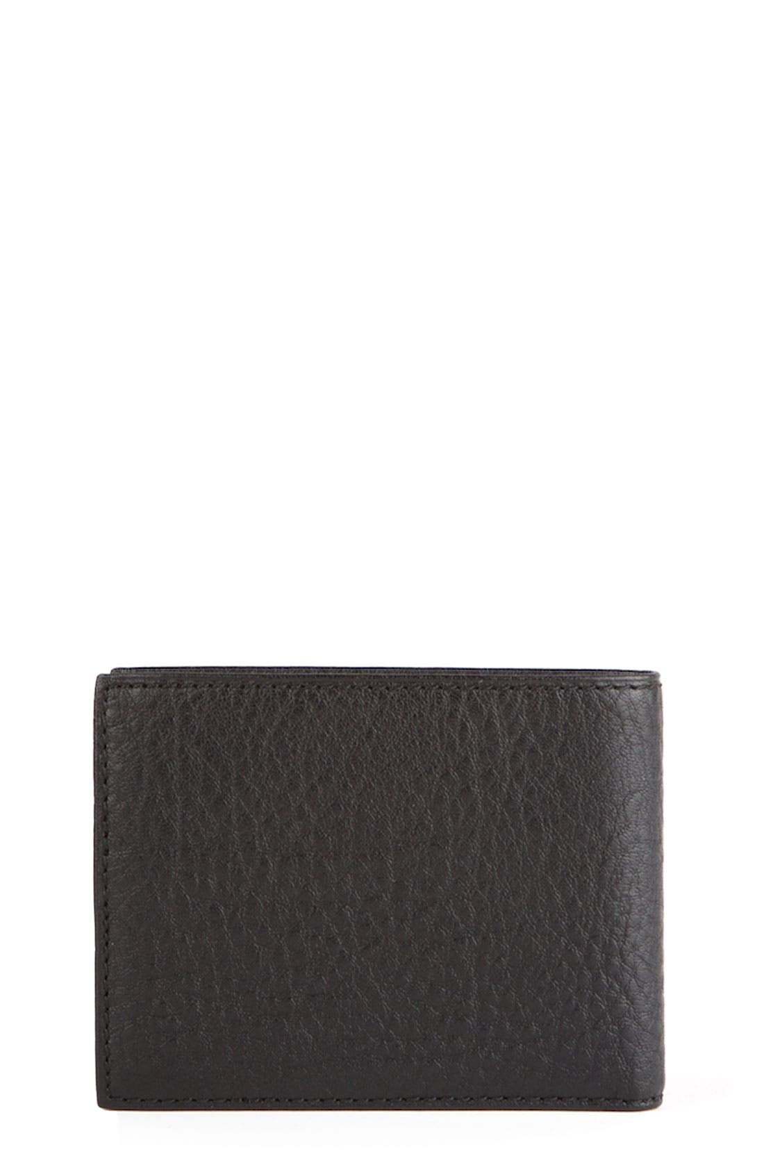 Alternate Image 1 Selected - Bosca ID Flap Bifold Leather Wallet