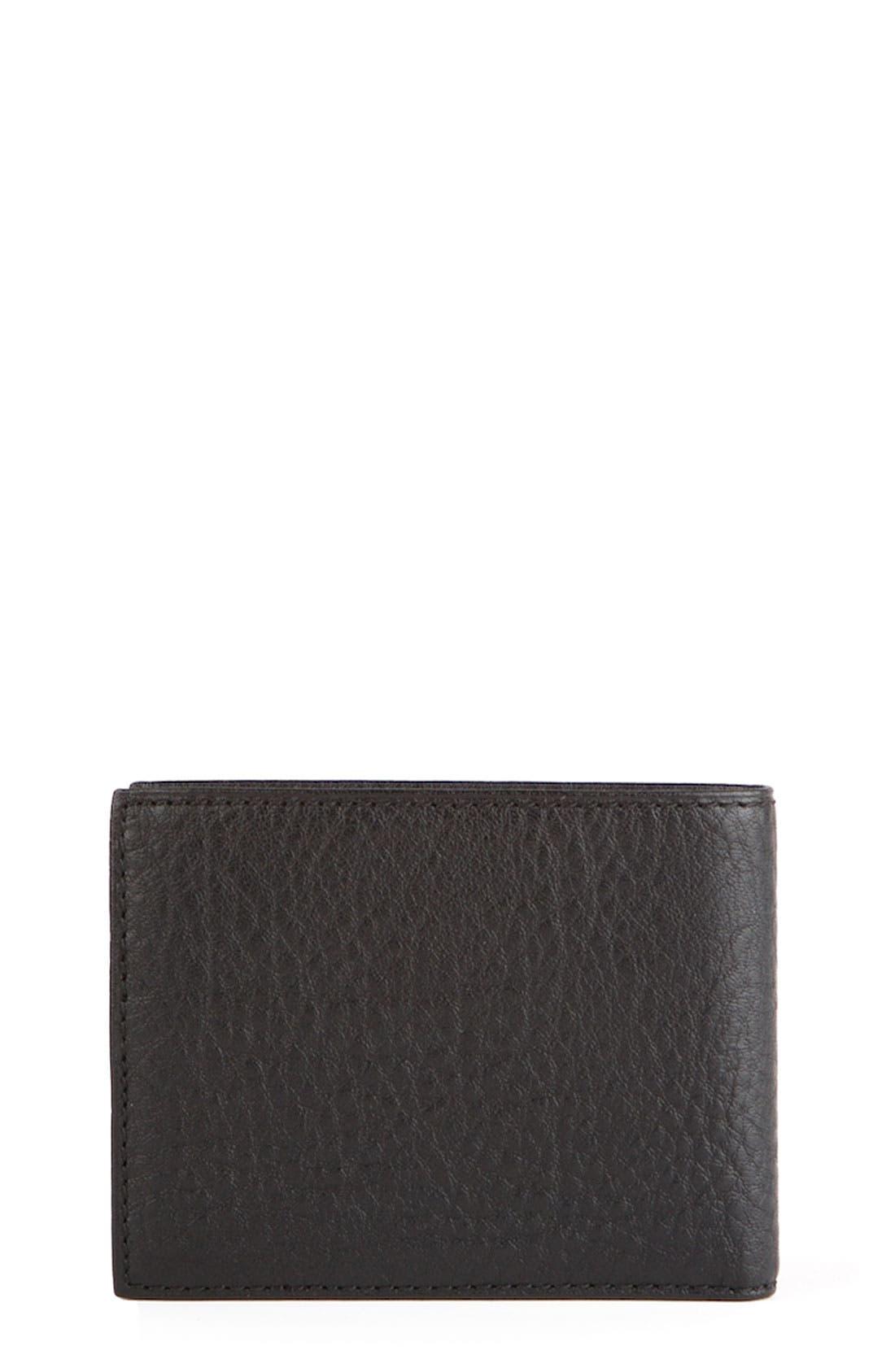 Main Image - Bosca ID Flap Bifold Leather Wallet