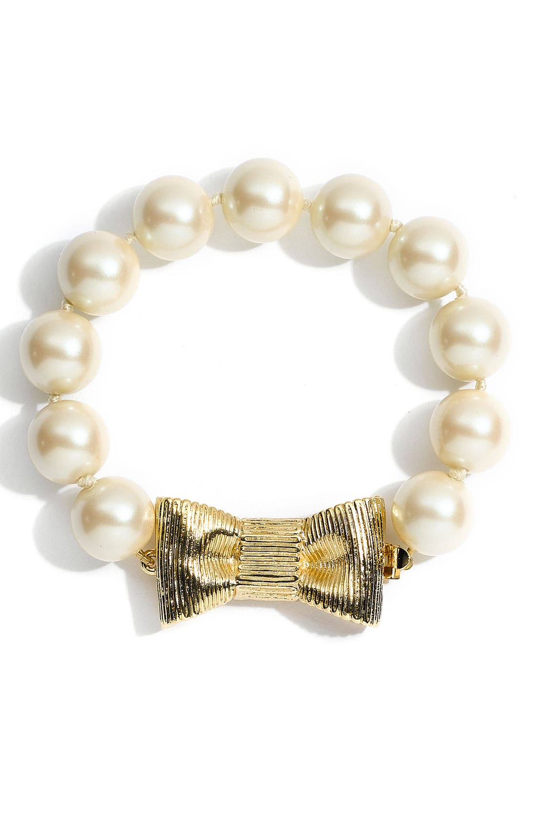 Alternate Image 1 Selected - kate spade new york 'all wrapped up' glass pearl bracelet